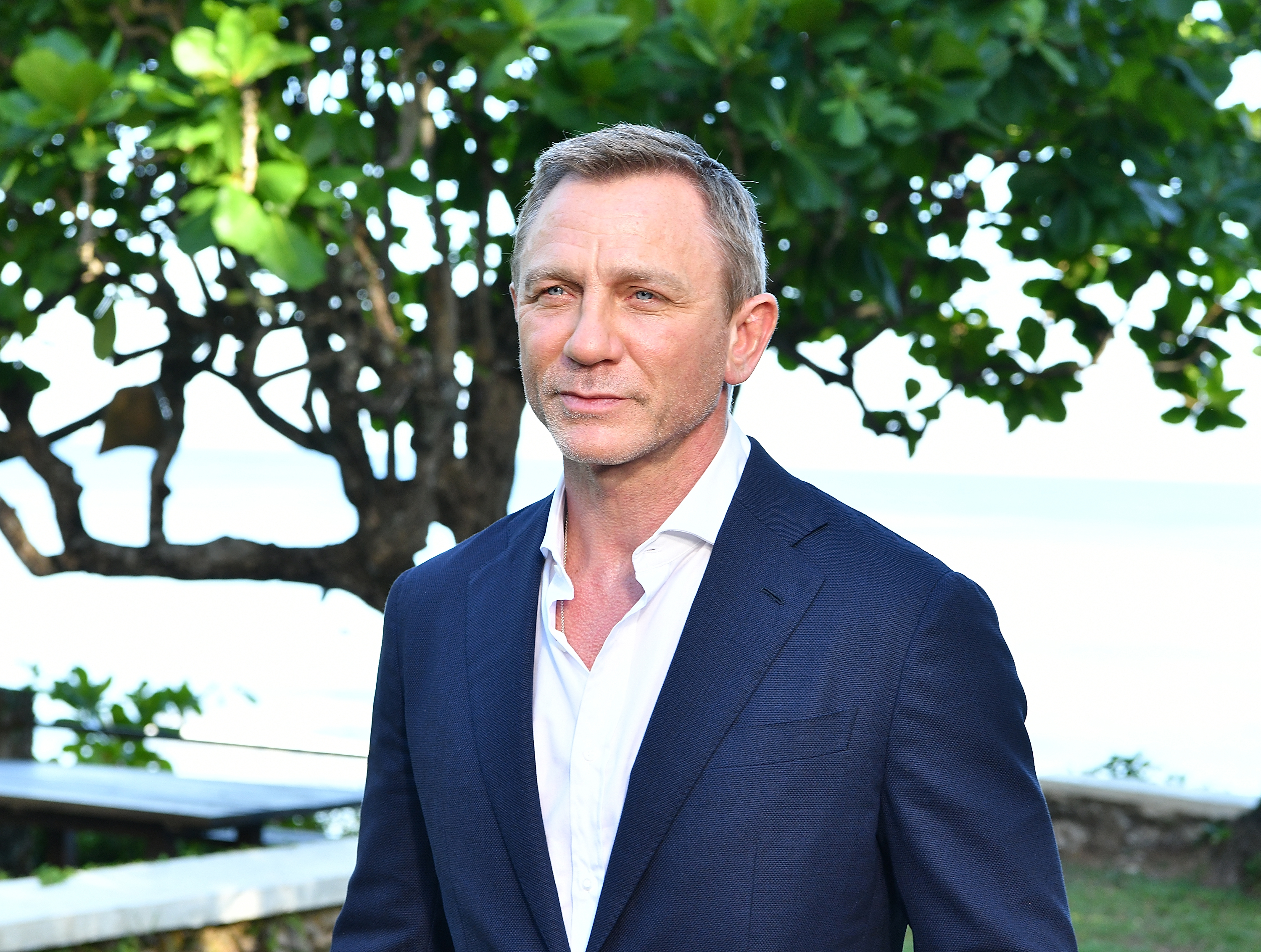 """MONTEGO BAY, JAMAICA - APRIL 25: Actor Daniel Craig attends the """"Bond 25"""" film launch at Ian Fleming's Home 'GoldenEye' on April 25, 2019 in Montego Bay, Jamaica. (Photo by Slaven Vlasic/Getty Images for Metro Goldwyn Mayer Pictures)"""