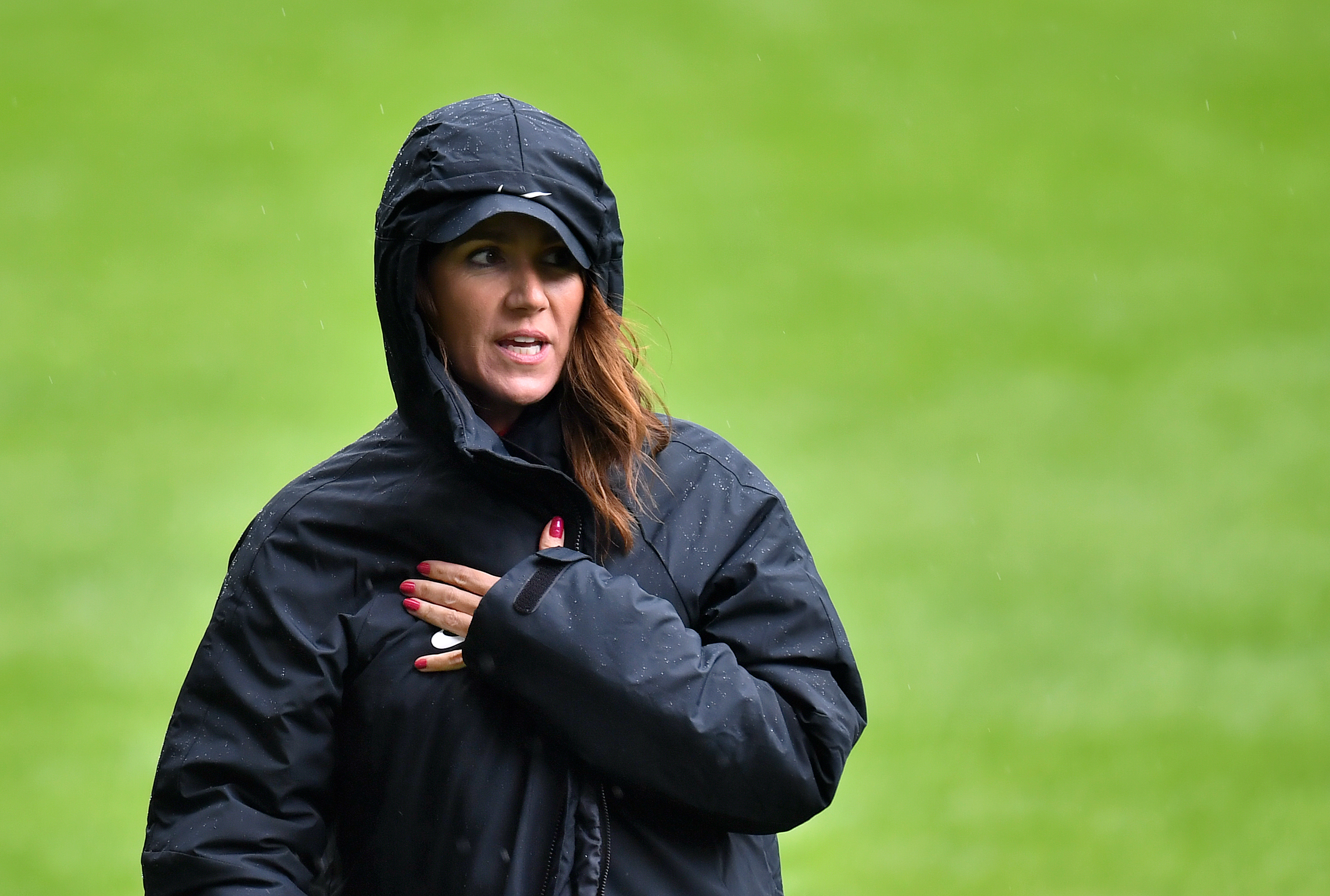 England co-manager Susanna Reid during the media day at Stamford Bridge, London. (Photo by Dominic Lipinski/PA Images via Getty Images)