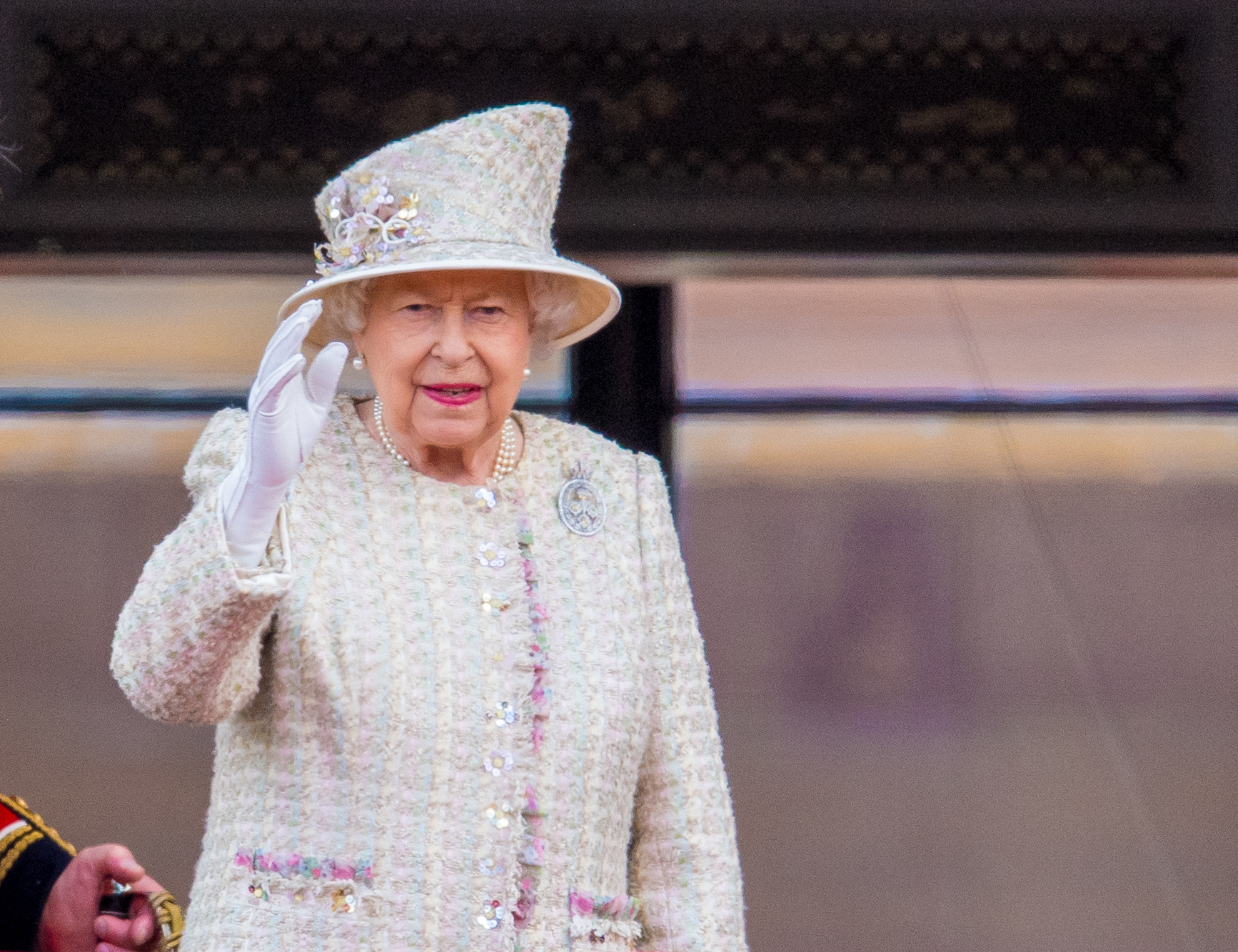 Queen Elizabeth II during Trooping the Colour ceremony, marking the monarch's official birthday, in London. (Photo by DPPA/Sipa USA)