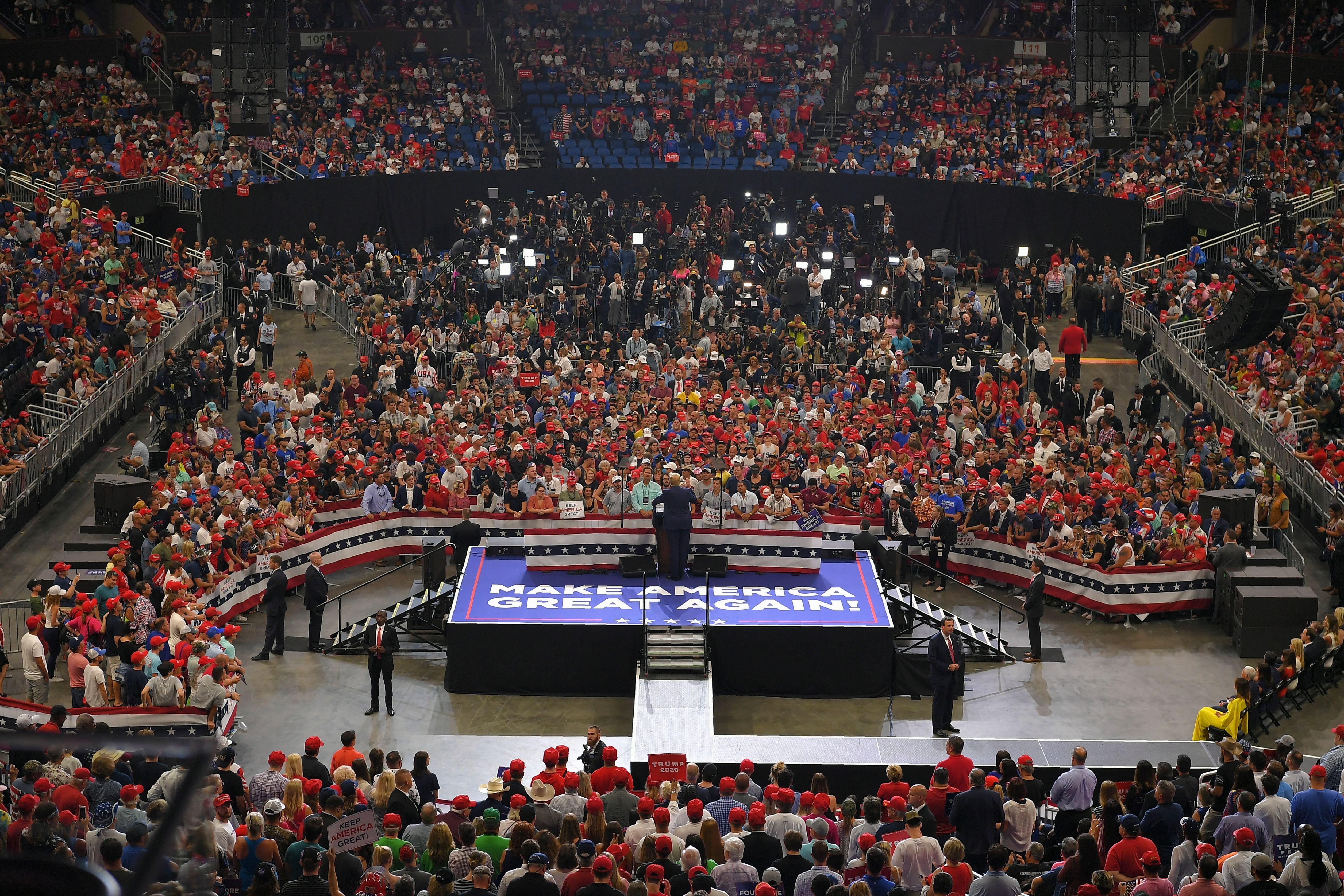 Donald Trump at Florida rally