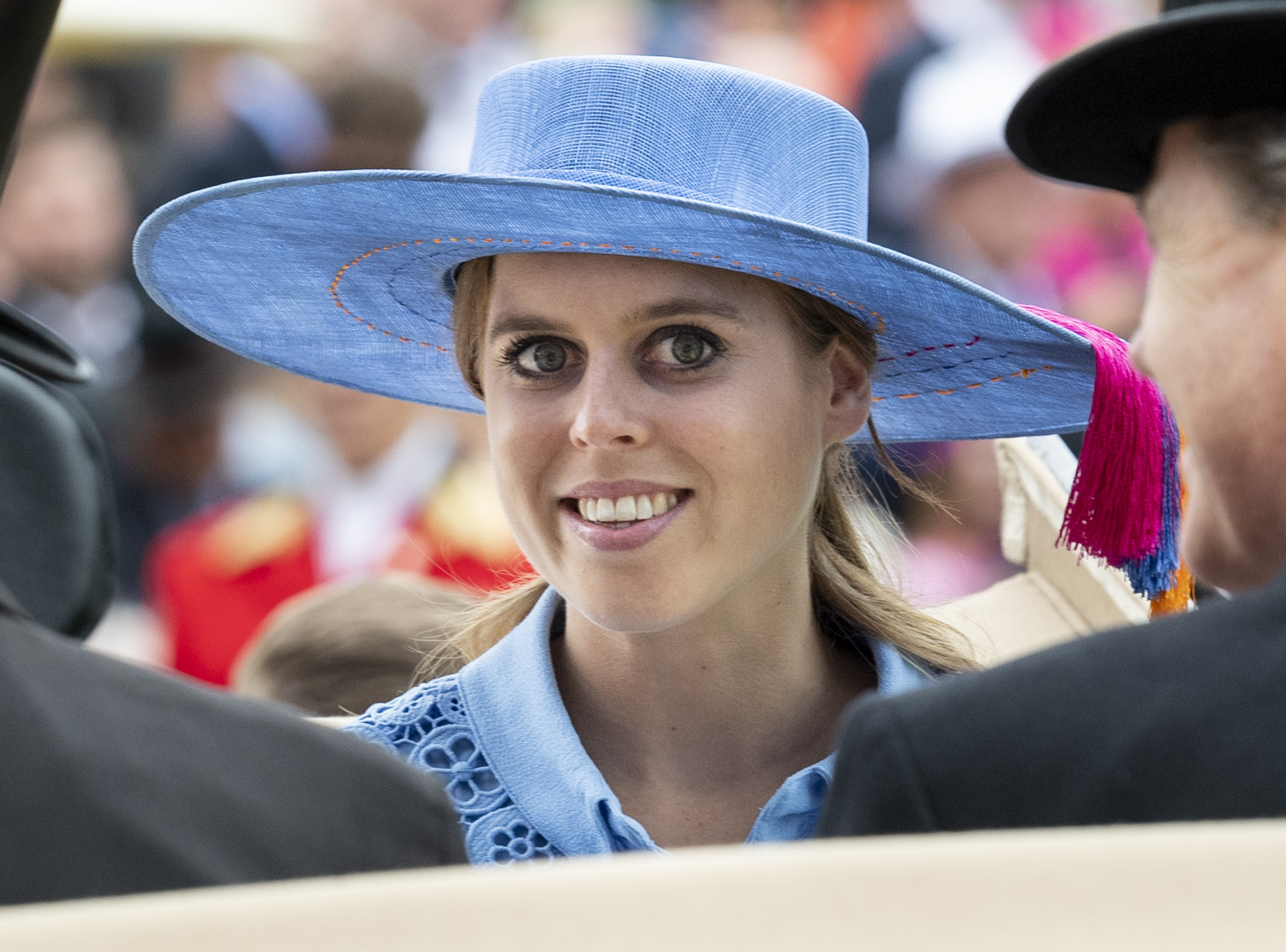 ASCOT, ENGLAND - JUNE 18: Princess Beatrice on day one of Royal Ascot at Ascot Racecourse on June 18, 2019 in Ascot, England. (Photo by Mark Cuthbert/UK Press via Getty Images)