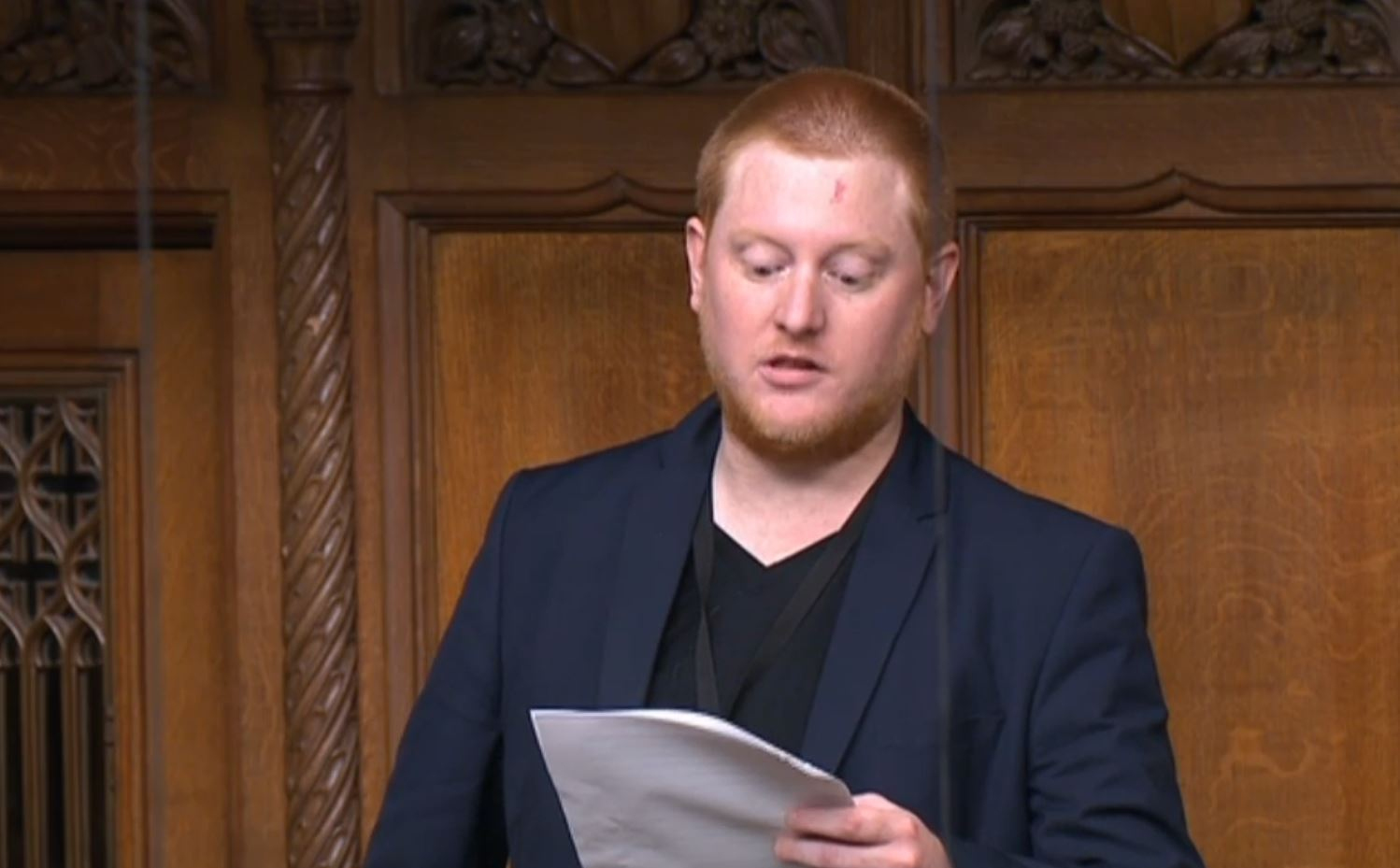 Independent MP for Sheffield Hallam Jared O'Mara speaking for the first time in the House of Commons chamber since being elected in June 2017.