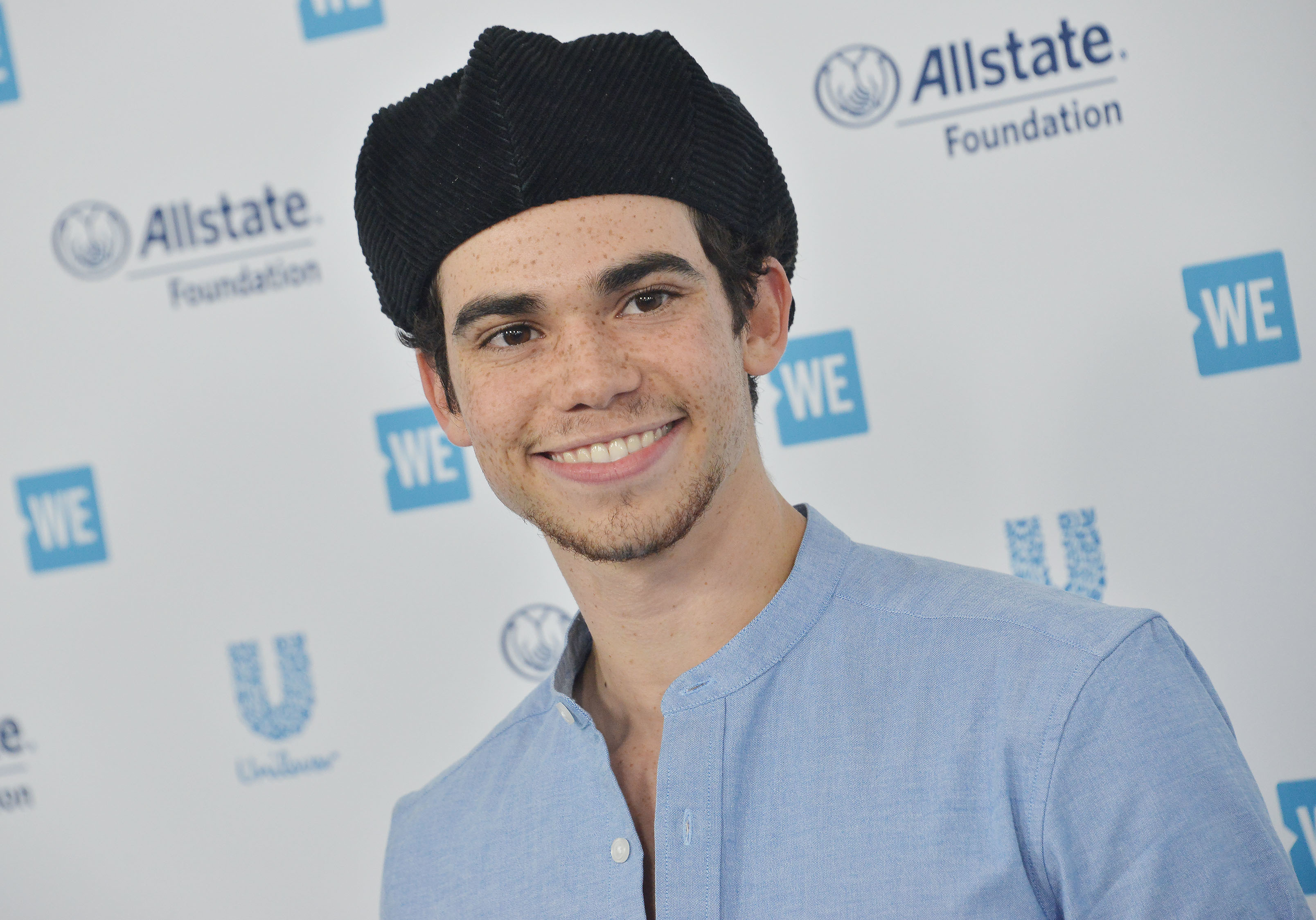 Cameron Boyce arrives at WE Day California 2019 held at The Forum in Inglewood, CA on Thursday, April 25, 2019. (Photo By Sthanlee B. Mirador/Sipa USA)