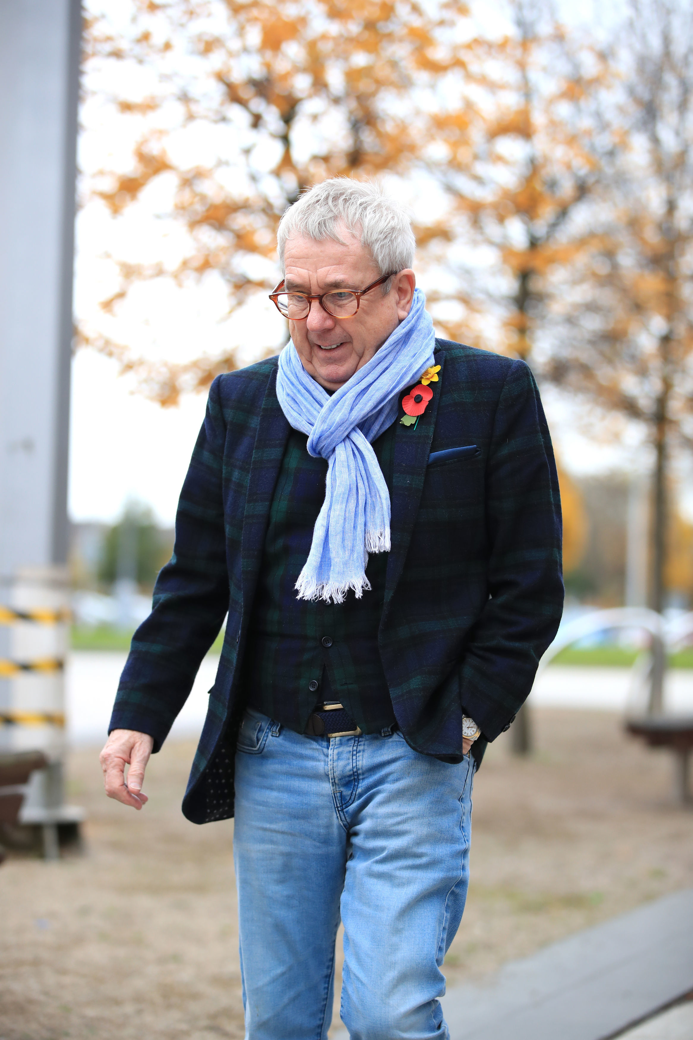 Victim Andy Potts, 67, leaving Tameside Magistrates' Court, in Ashton-under-Lyne, where Emmerdale actor Mark Jordon, 53, has been charged with grievous bodily harm and assault. (Photo by Peter Byrne/PA Images via Getty Images)