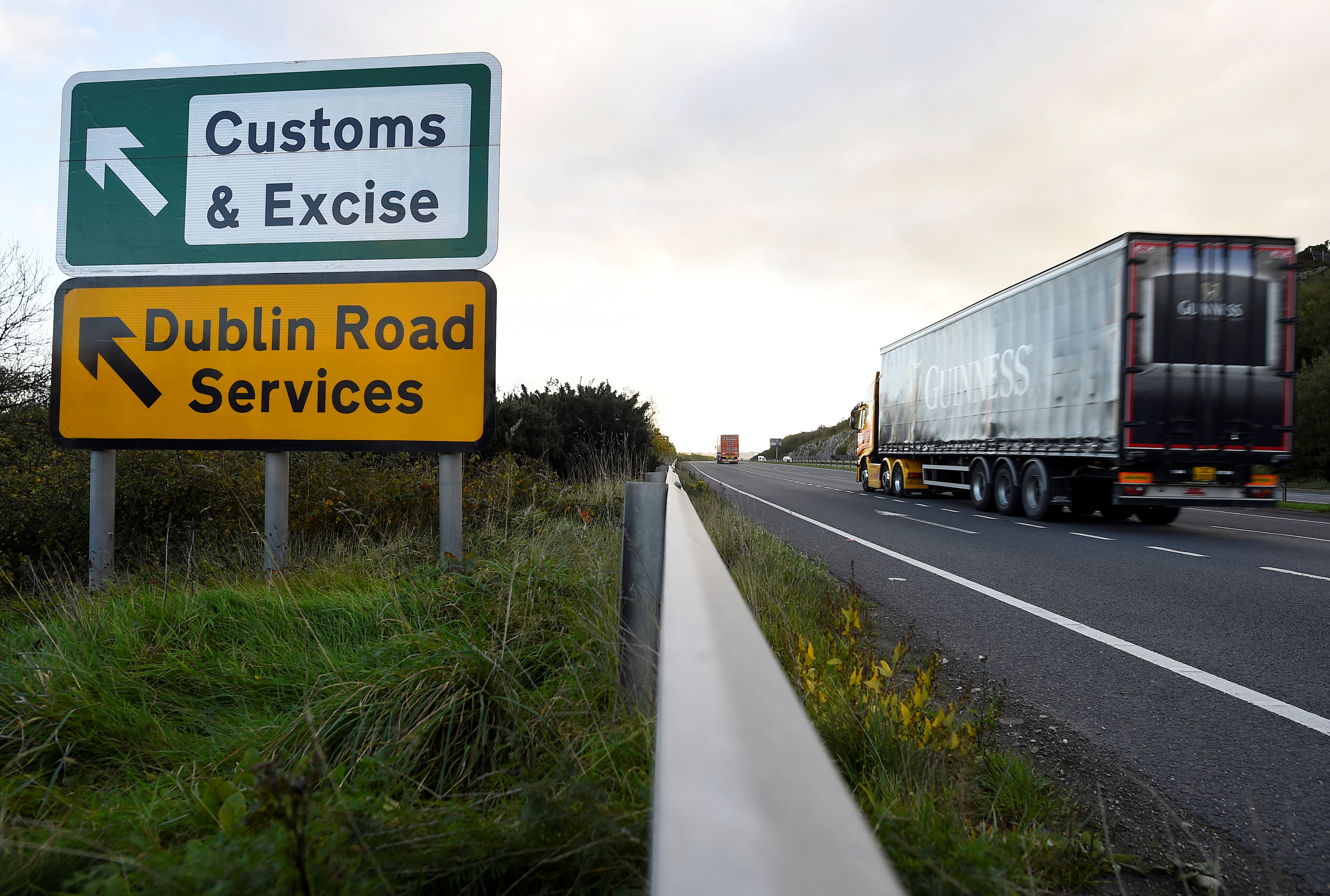 The government warned there will be a hard Irish border in a no-deal Brexit (Picture: Reuters)
