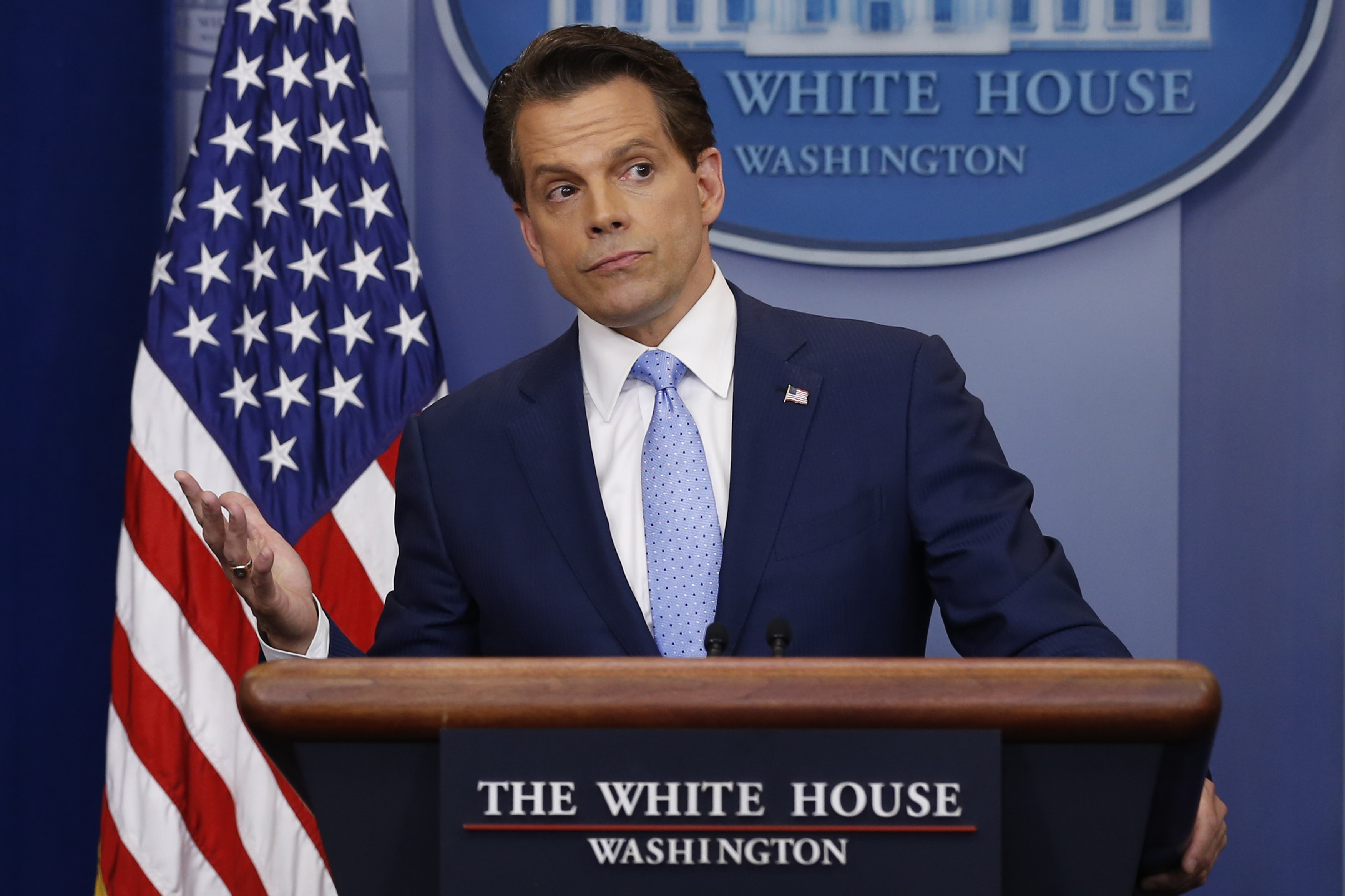New White House Communications Director Anthony Scaramucci takes questions at the daily briefing at the White House in Washington, U.S., July 21, 2017. REUTERS/Jonathan Ernst