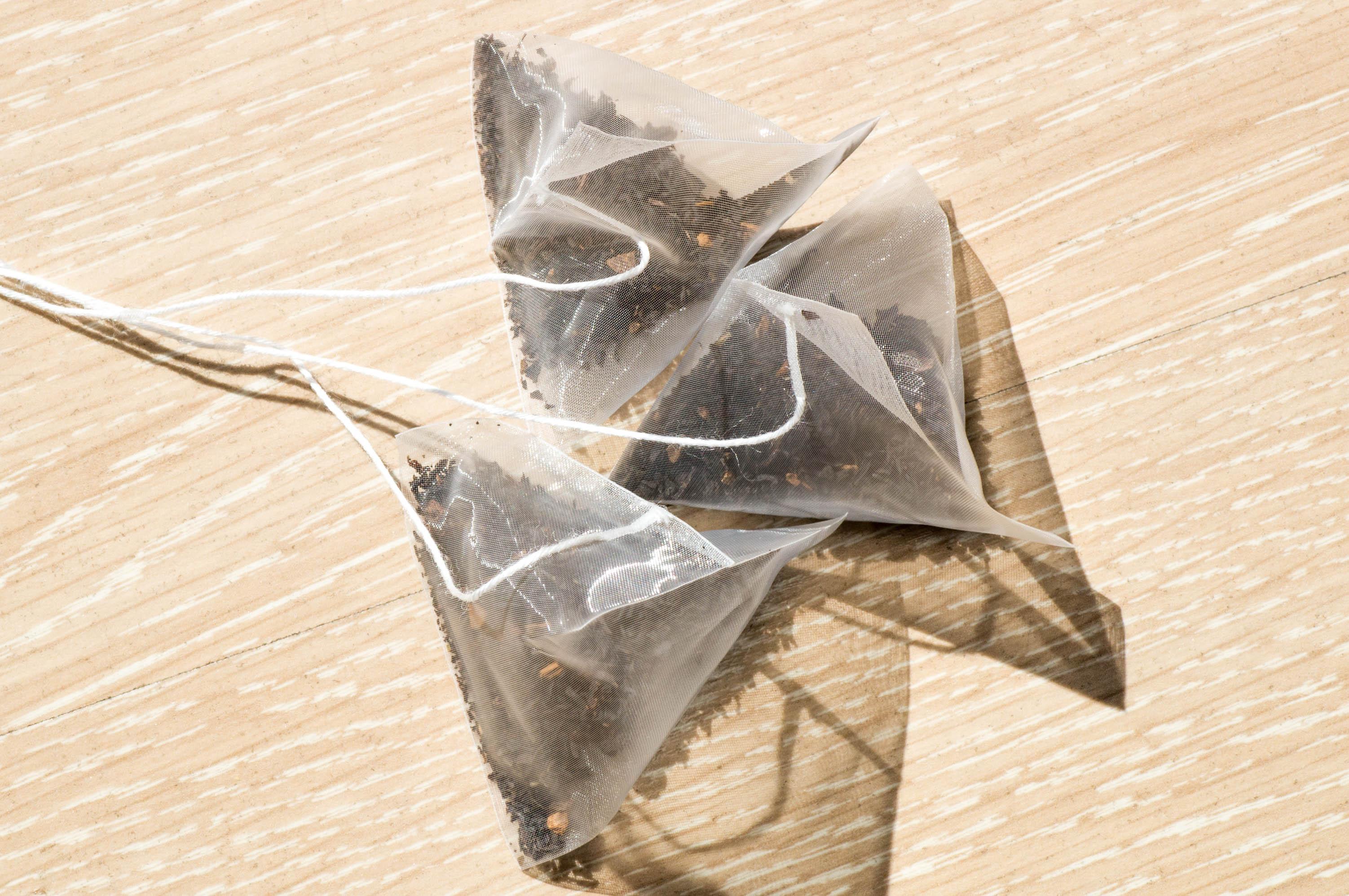 Three plastic team bag in upper view