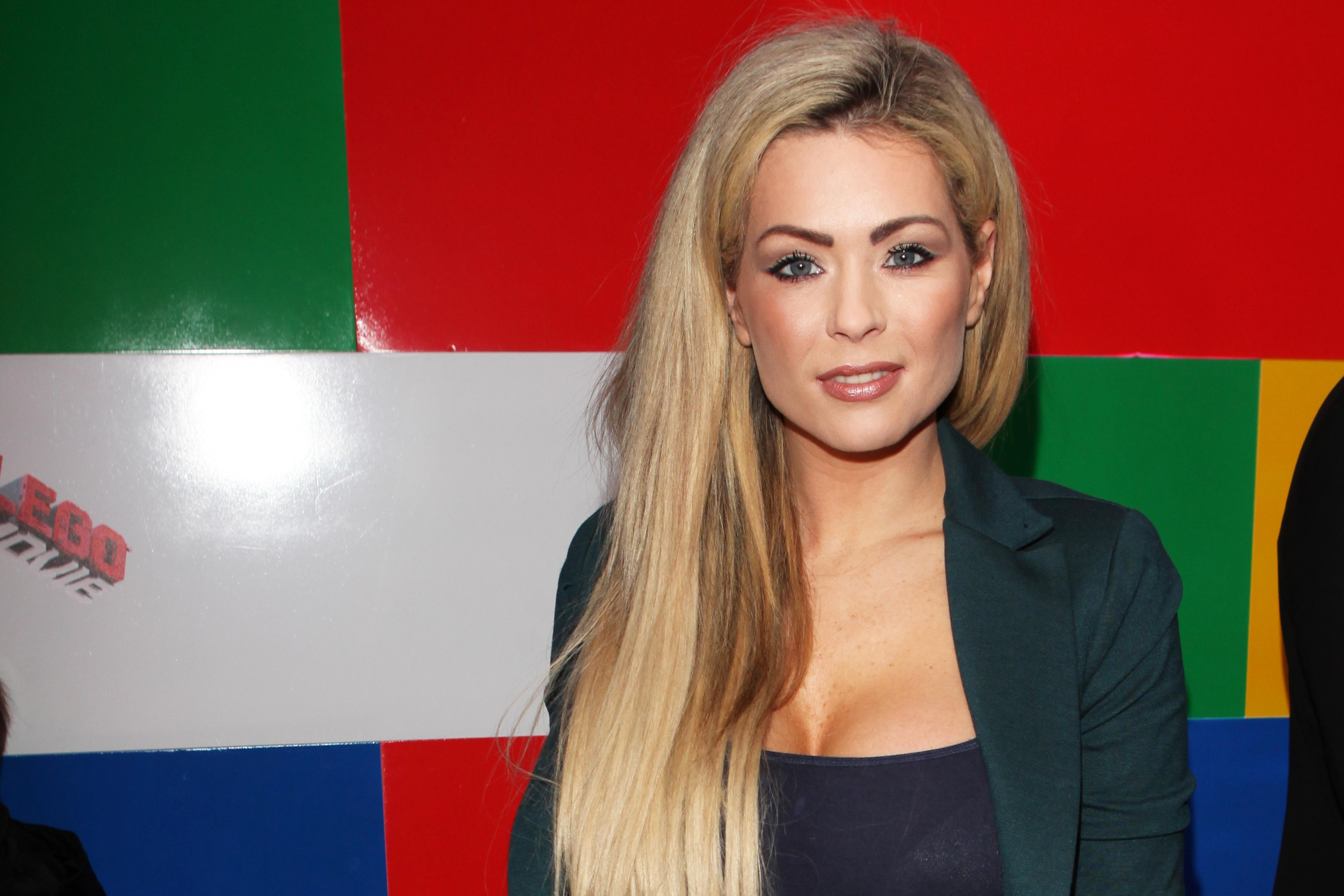 """Nicola McLean seen at the UK screening of """"The Lego Movie - The Awesome"""" on Sunday, February 9th 2014 in London, UK. (Photo by Jon Furniss/Invision AP Images)"""