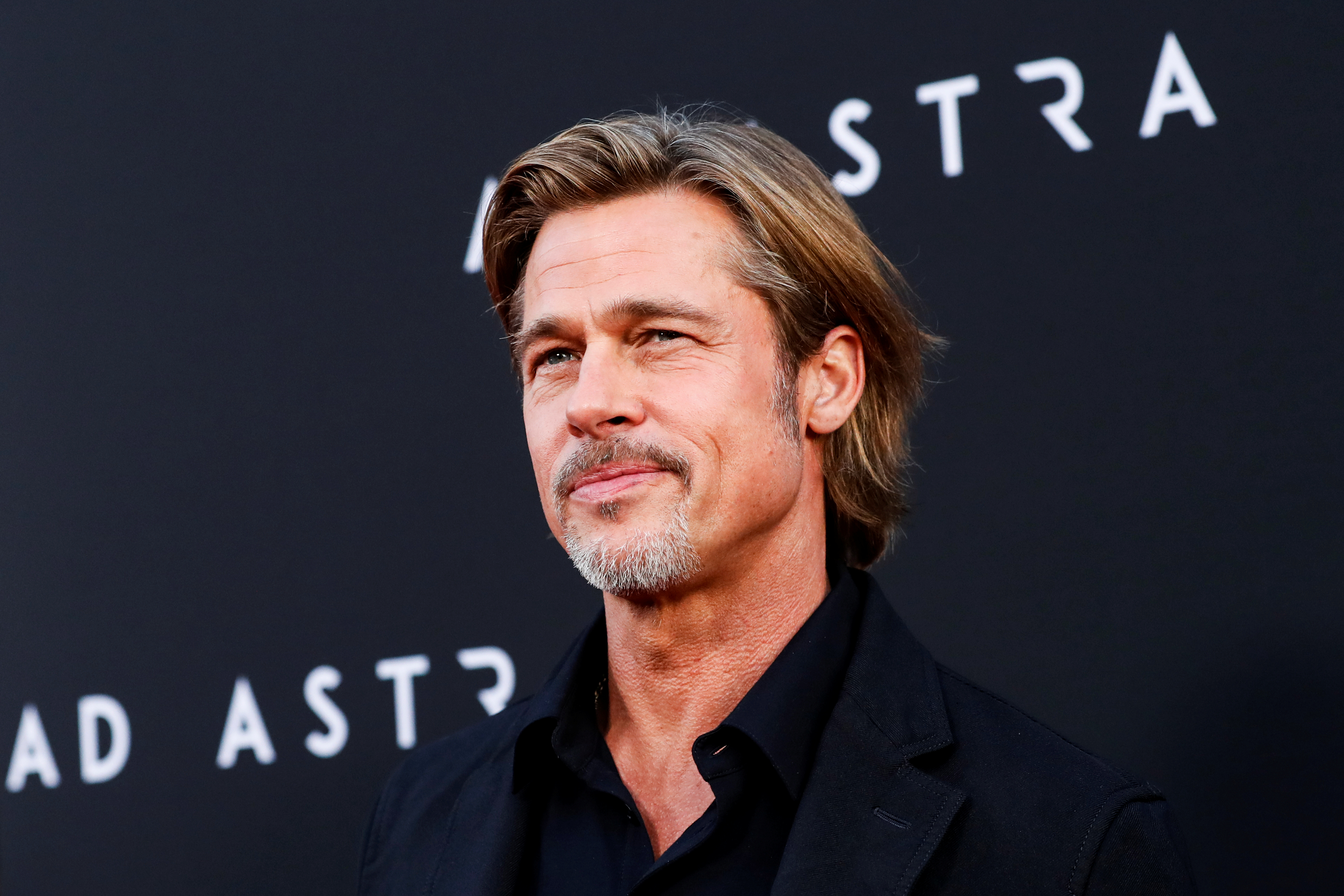"""Cast member Brad Pitt poses at the premiere for the film """"Ad Astra"""" in Los Angeles, California, U.S., September 18, 2019. REUTERS/Mario Anzuoni"""