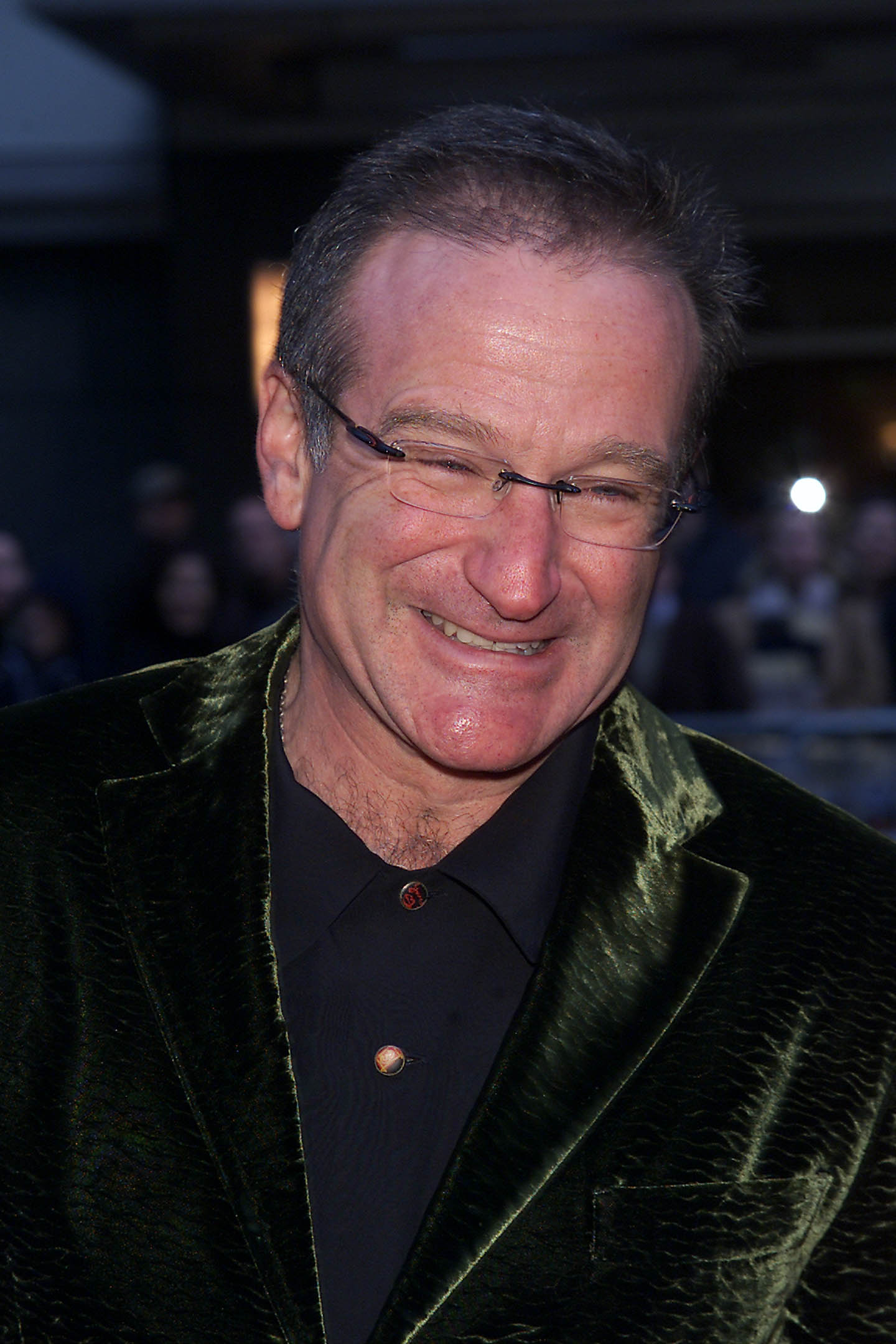 """Actor Robin Williams at the N.Y. Premiere of """"Harry Potter and the Sorcerer's Stone"""" at the Ziegfeld Theatre in New York City. 11/11/2001. Photo: Evan Agostini/ImageDirect"""