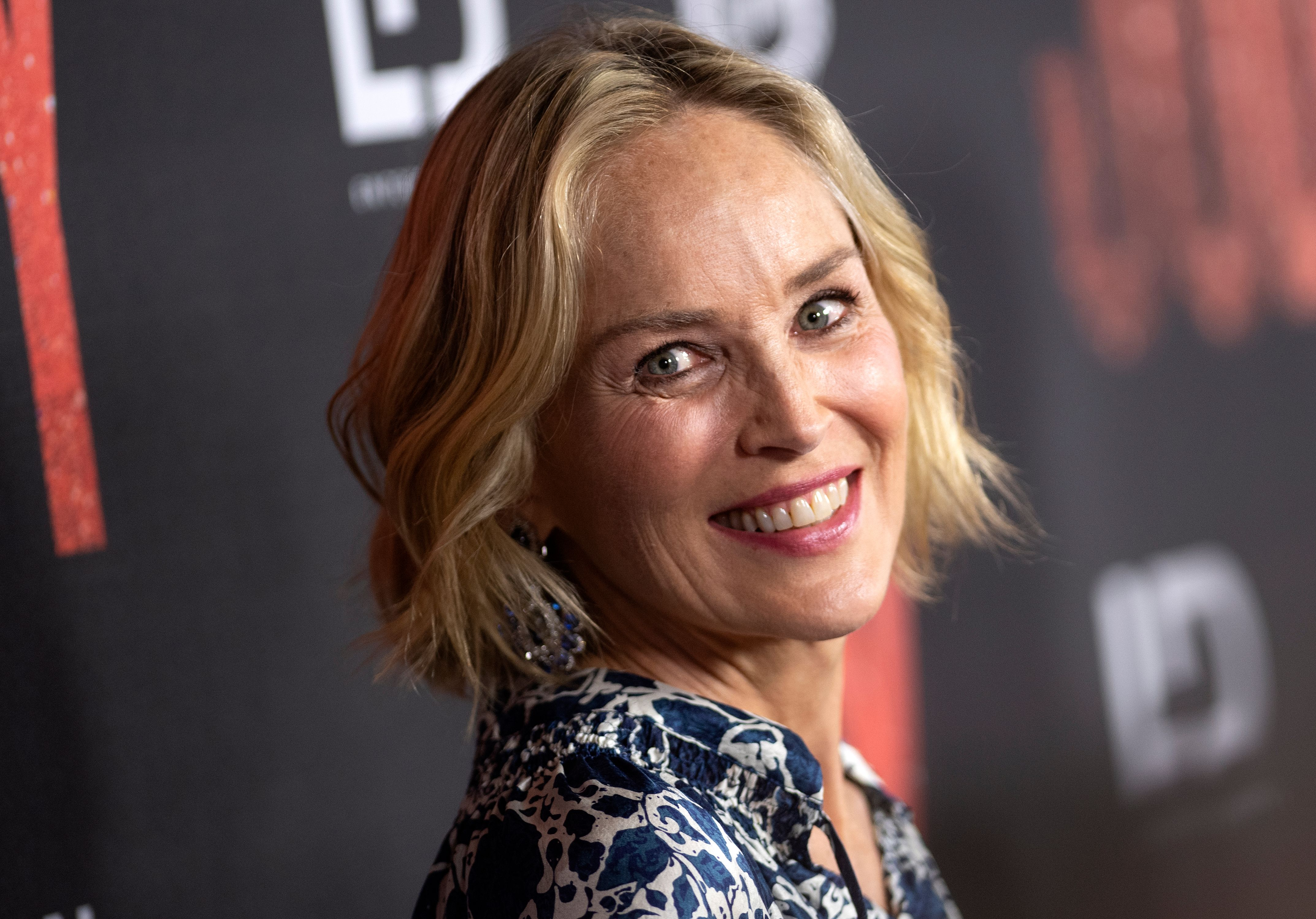 "Actress Sharon Stone attends the Los Angeles Premiere of ""Judy"" at the Samuel Goldwyn Theater, September 19, 2019, in Los Angeles, California. (Photo by VALERIE MACON / AFP) (Photo credit should read VALERIE MACON/AFP/Getty Images)"