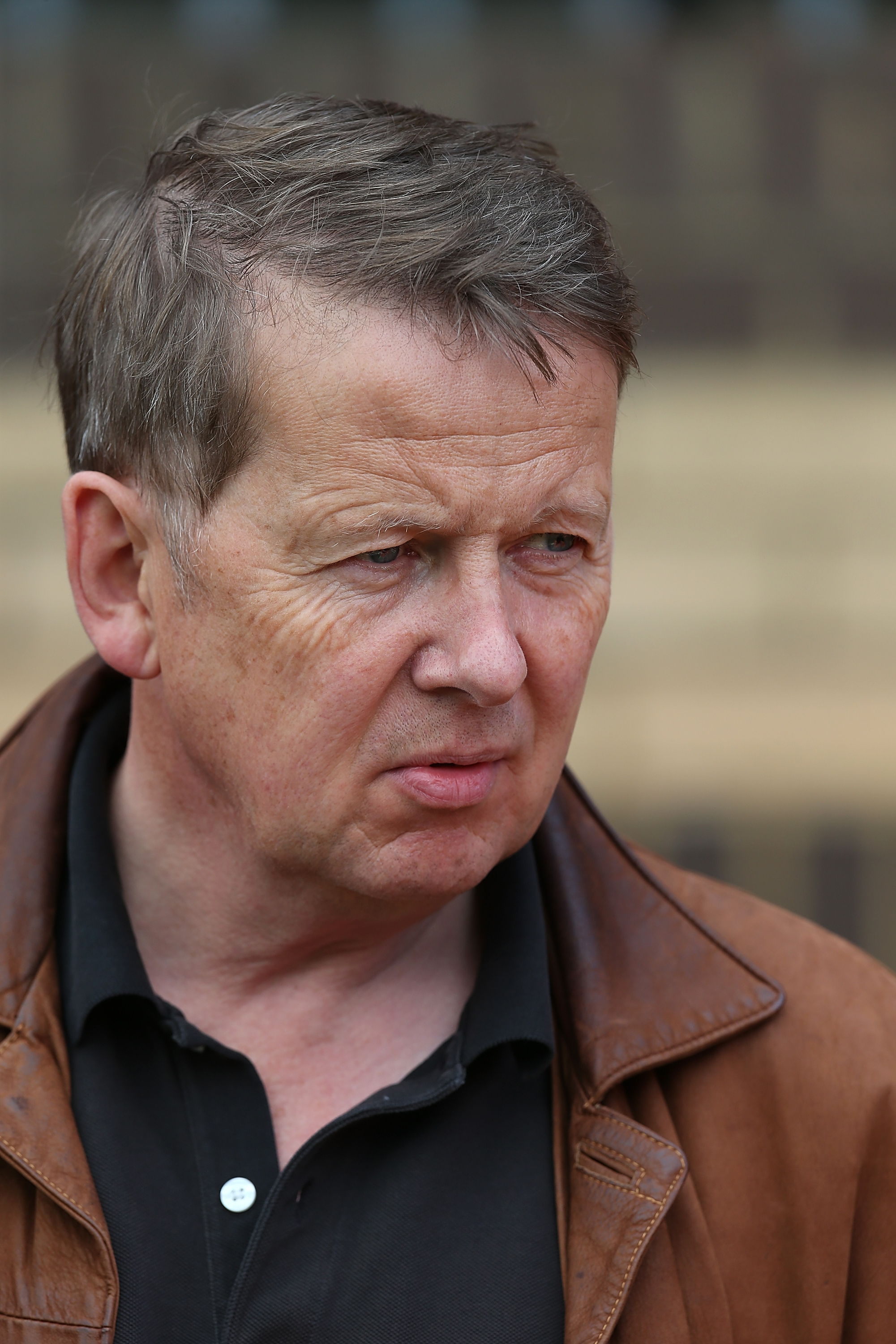 HIGH WYCOMBE, ENGLAND - OCTOBER 03:  BBC Breakfast TV presenter and Wycombe Wanderers fan Bill Turnbull looks on prior to the Sky Bet League Two match between Wycombe Wanderers and Northampton Town at Adams Park on October 3, 2015 in High Wycombe, England.  (Photo by Pete Norton/Getty Images)
