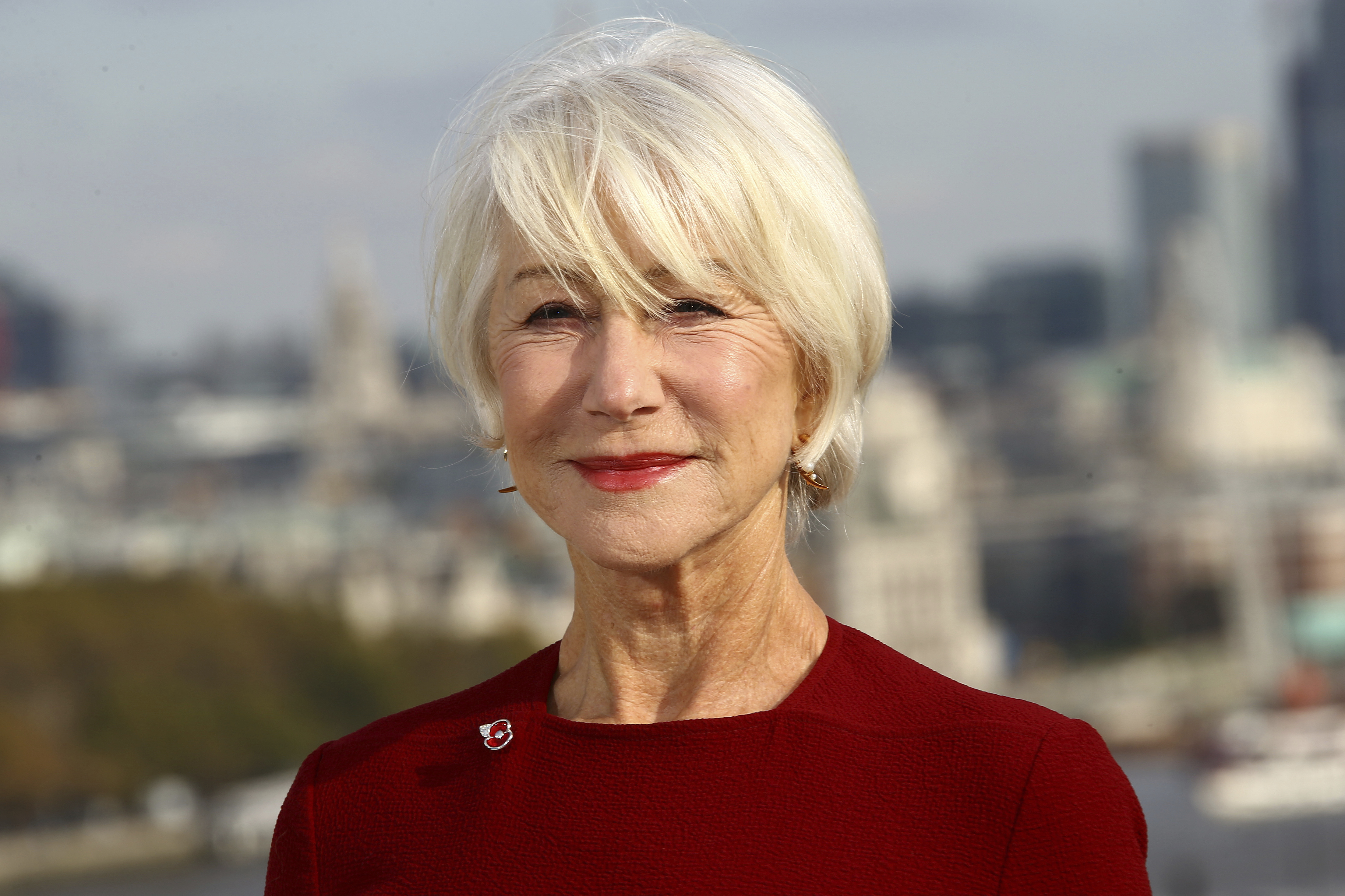 Actress Dame Helen Mirren poses for photographers at the photo call for the film 'The Good Liar' at a central London hotel, Wednesday, Oct. 30, 2019. (Photo by Joel C Ryan/Invision/AP)