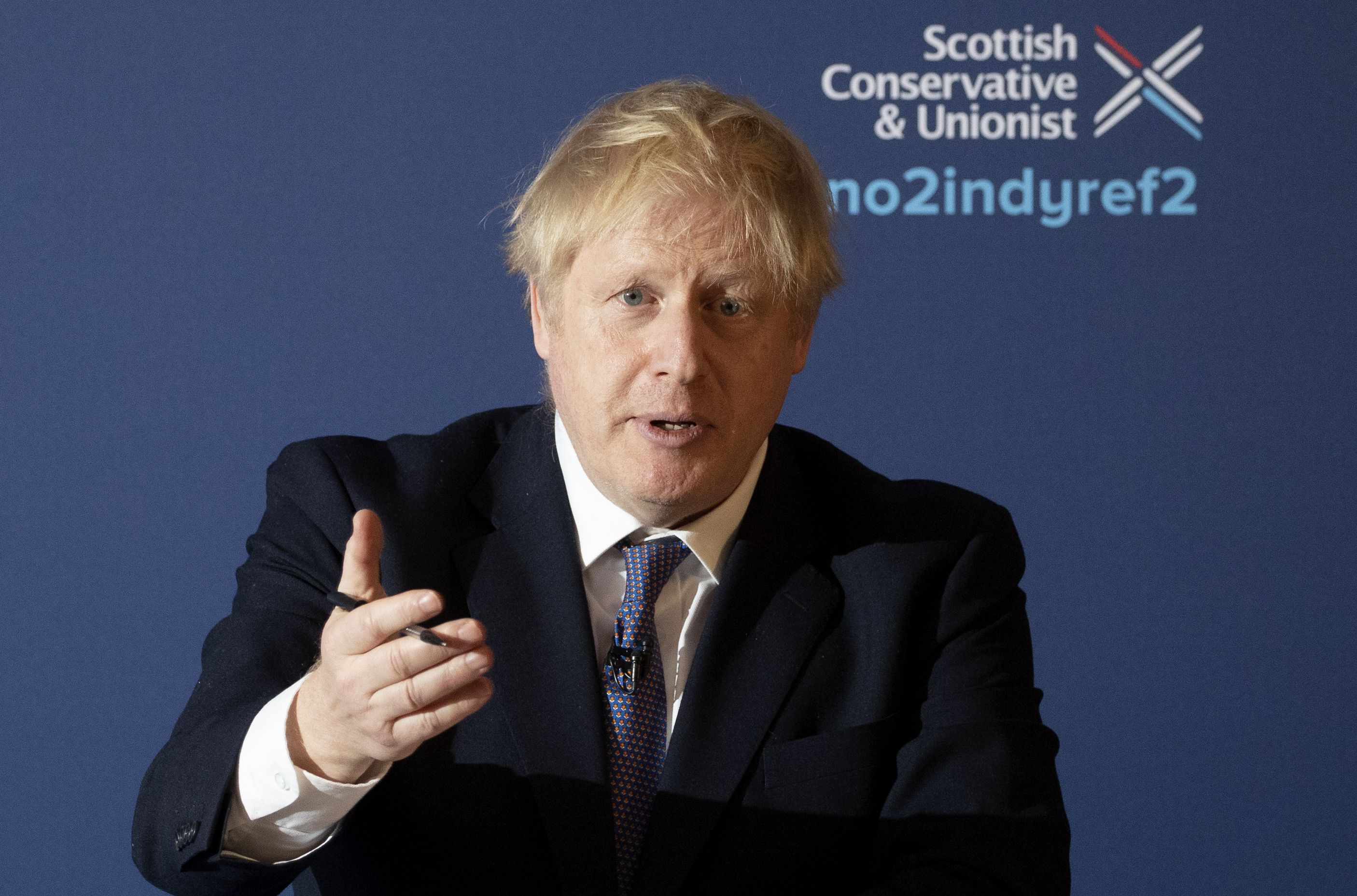 Prime Minister Boris Johnson at the launch of the Scottish Conservative's manifesto during a visit to Fife whilst on the General Election campaign trail.