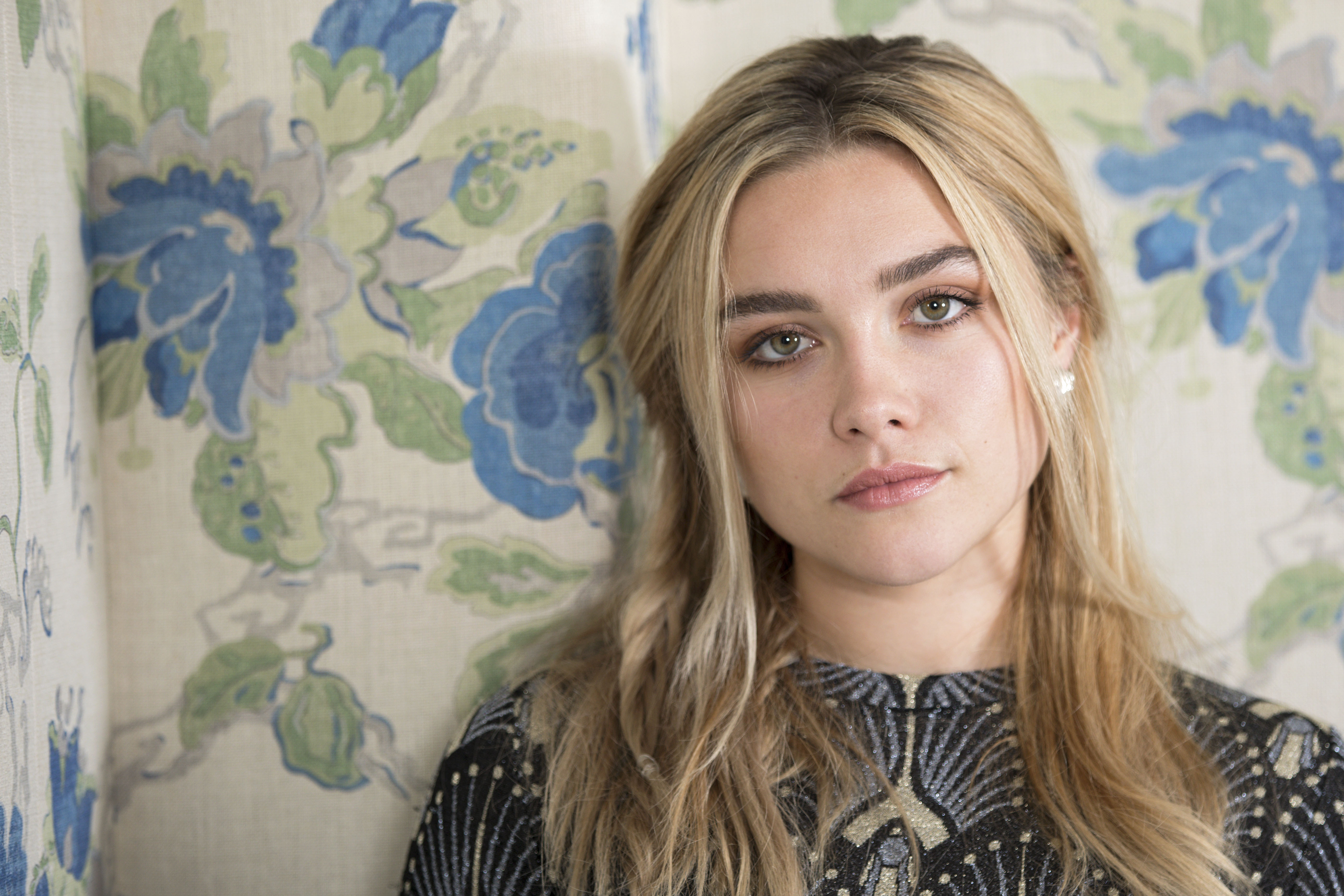 Florence Pugh poses for a portrait at the Crosby Street Hotel on Tuesday, June 18, 2019, in New York. (Photo by Brian Ach/Invision/AP)