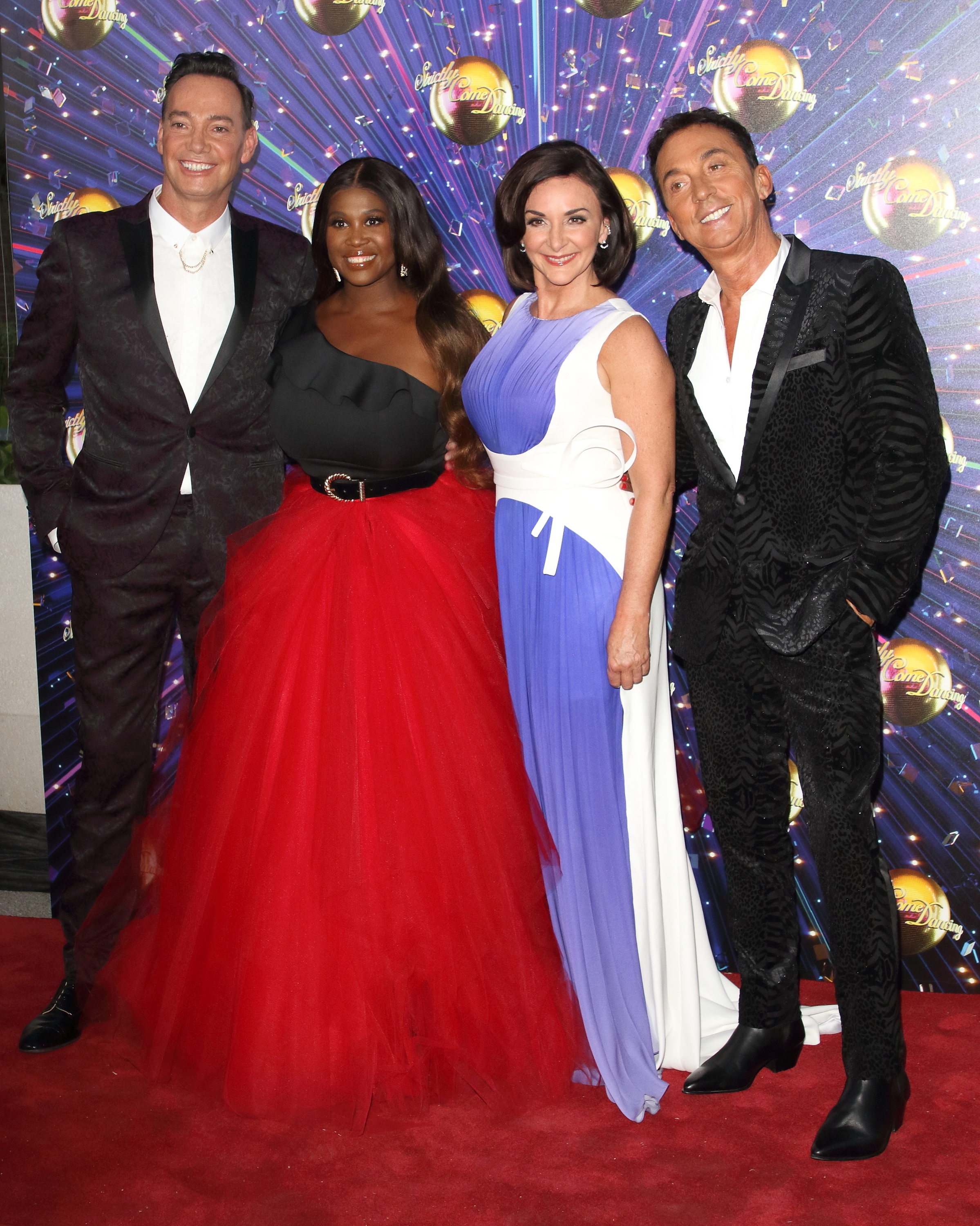LONDON, UNITED KINGDOM - 2019/08/26: Craig Revel Horwood, Motsi Mabuse, Shirley Ballas and Bruno Tonioli at the Strictly Come Dancing Launch at BBC Broadcasting House in London. (Photo by Keith Mayhew/SOPA Images/LightRocket via Getty Images)