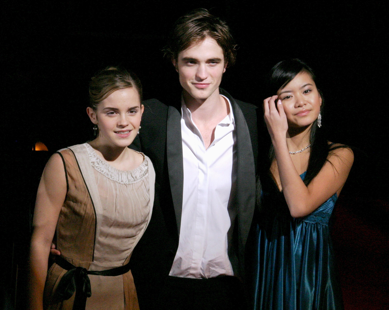 Emma Watson, Robert Pattinson and Katie Leung (Photo by Access E/WireImage)
