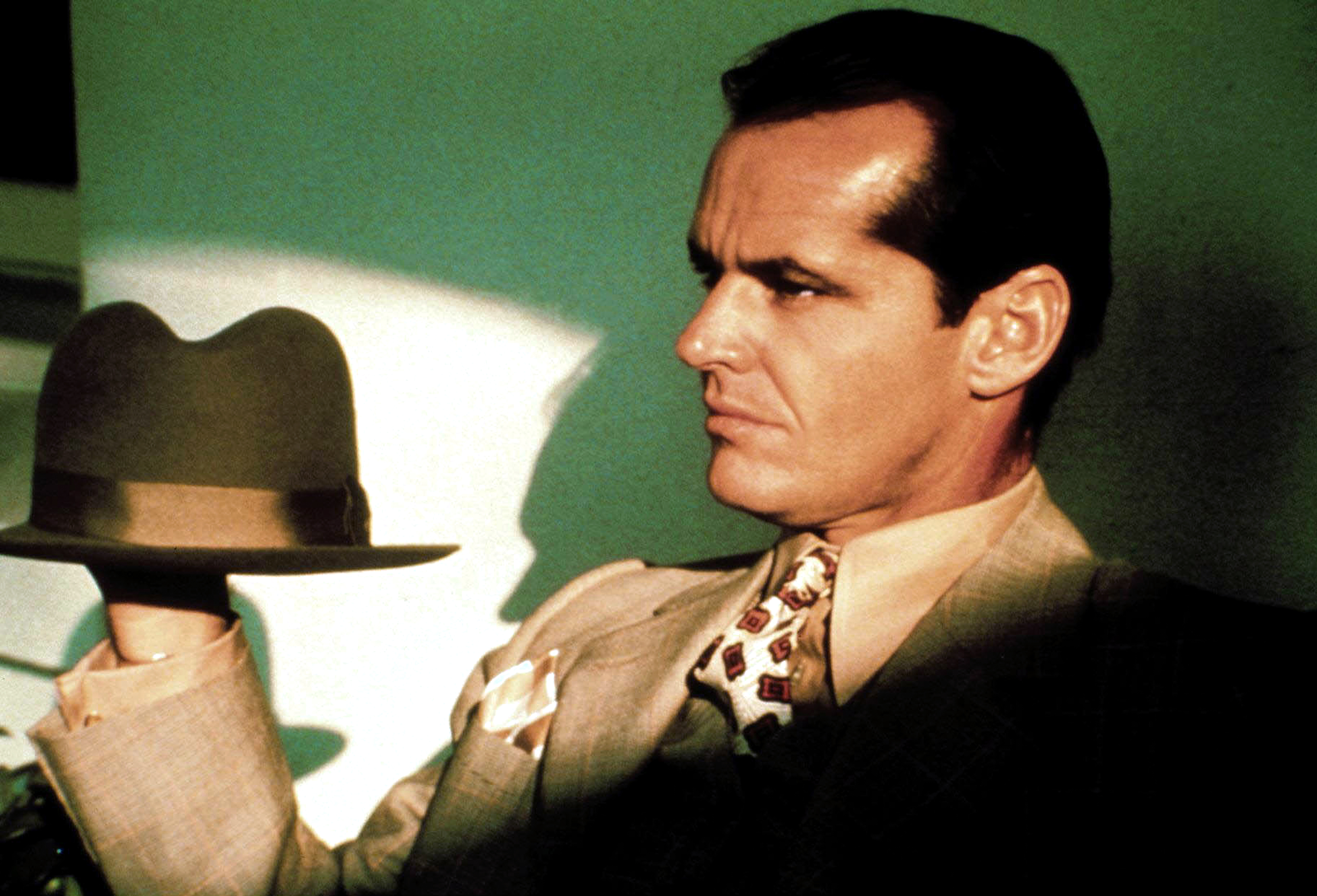American actor Jack Nicholson on the set of Chinatown written and directed by Polish-French Roman Polanski. (Photo by Sunset Boulevard/Corbis via Getty Images)