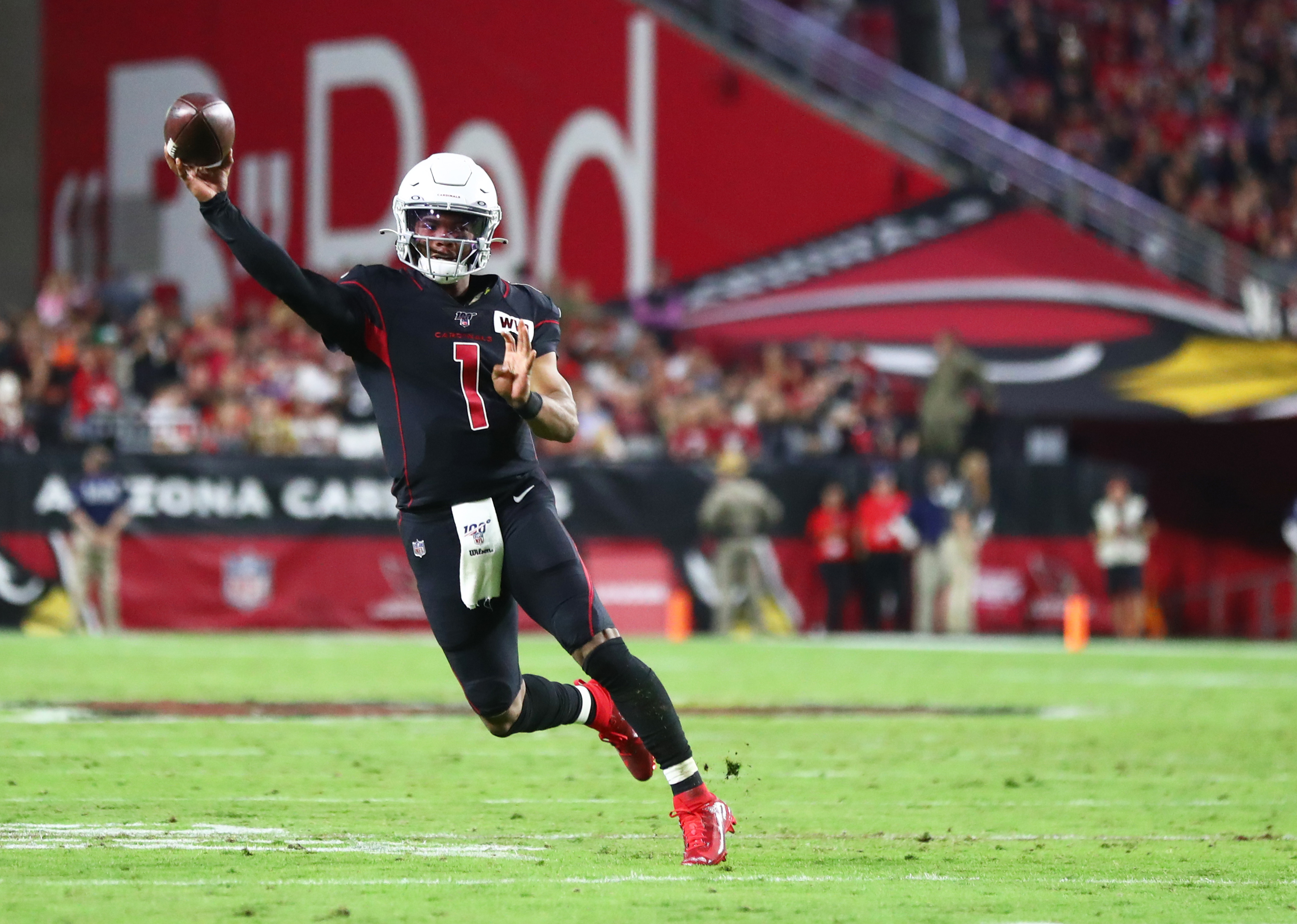 Kyler Murray and the Cardinals made things interesting in the end. (Mark J. Rebilas/Reuters)