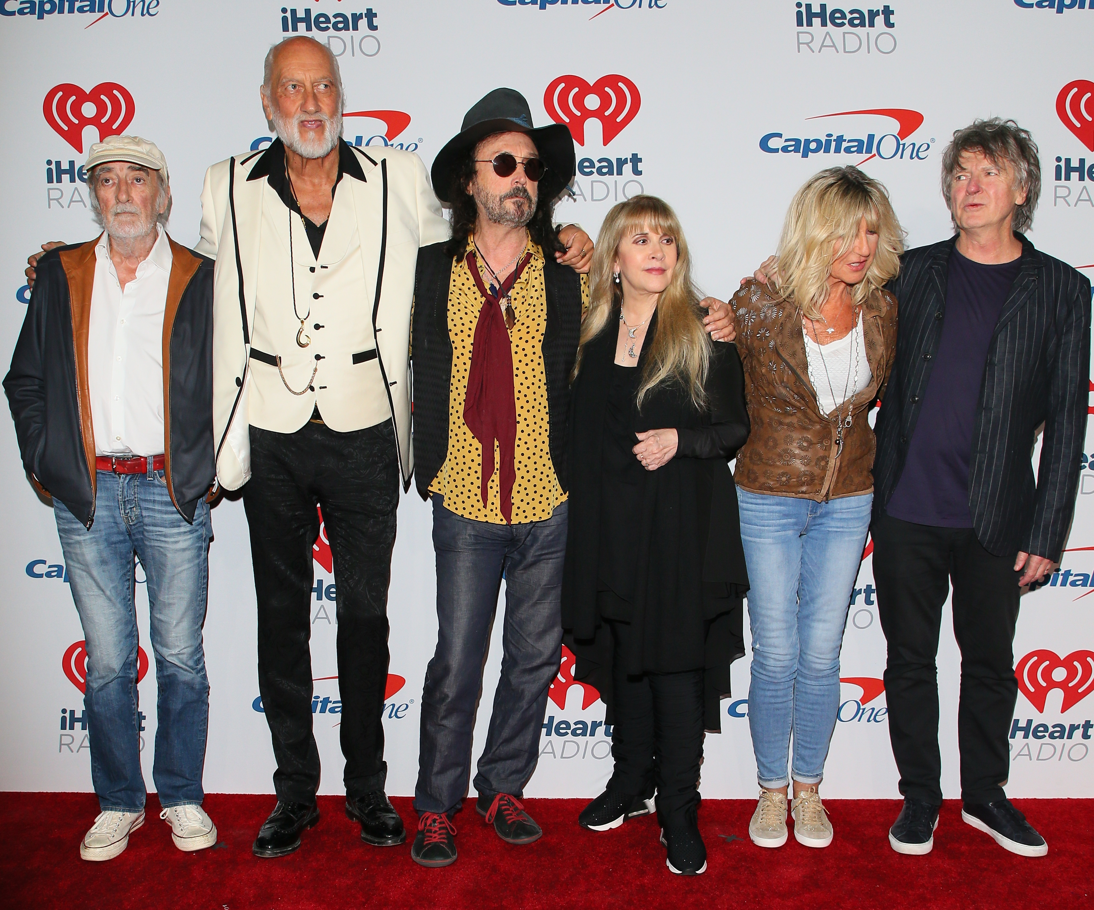 LAS VEGAS, NV - SEPTEMBER 21: John McVie, Mick Fleetwood, Mike Campbell, Stevie Nicks, Christine McVie and Neil Finn of Fleetwood Mac attend the 2018 iHeartRadio Music Festival at T-Mobile Arena on September 21, 2018 in Las Vegas, Nevada. (Photo by JB Lacroix/WireImage)