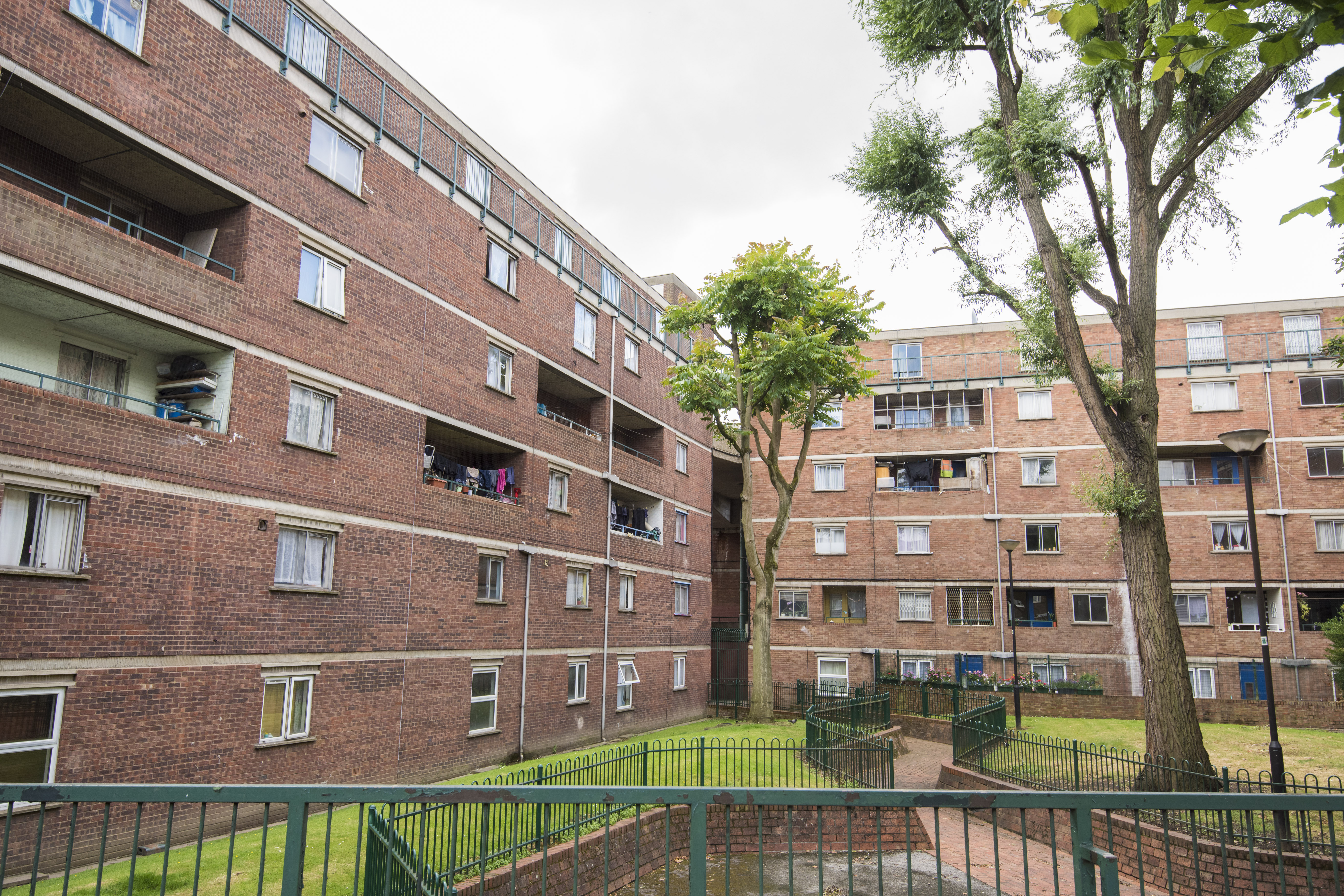 General view of the Wornington Green Estate in North Kensington, London. The estate is in the Golborne Ward, which ranks as the most deprived ward in the capital. The borough of Kensington and Chelsea is one of the most polarised in Great Britain, with some of the most expensive real estate in the UK just a short walk from several of the most deprived wards in the country - including the area around the Grenfell Tower. Picture date: Tuesday July 11th, 2017. Photo credit should read: Matt Crossick/ EMPICS Entertainment.