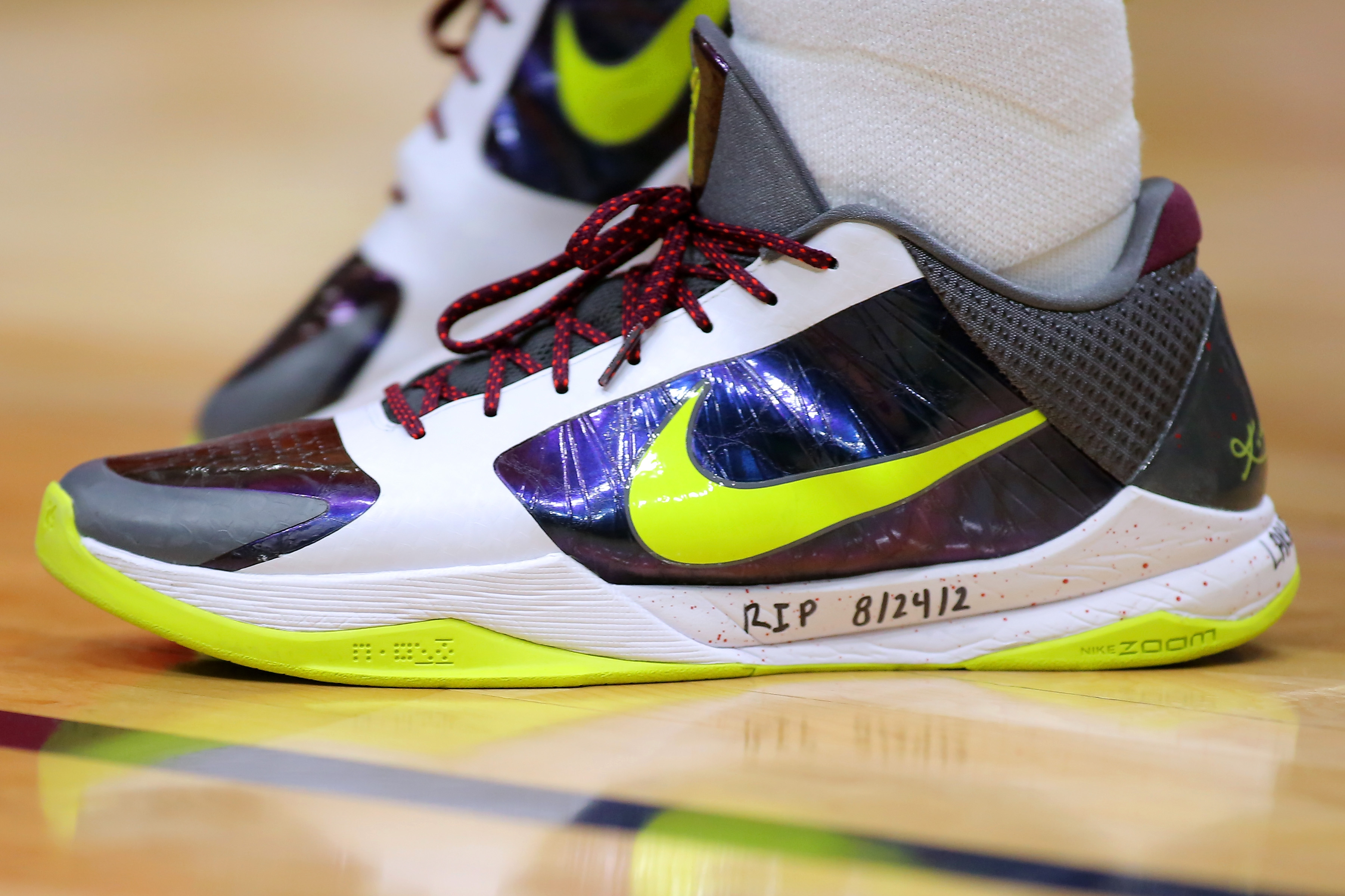 Nike is temporarily halting the sale of Kobes as it mulls how to handle the signature shoe line moving forward.  (Jonathan Bachman/Getty Images)