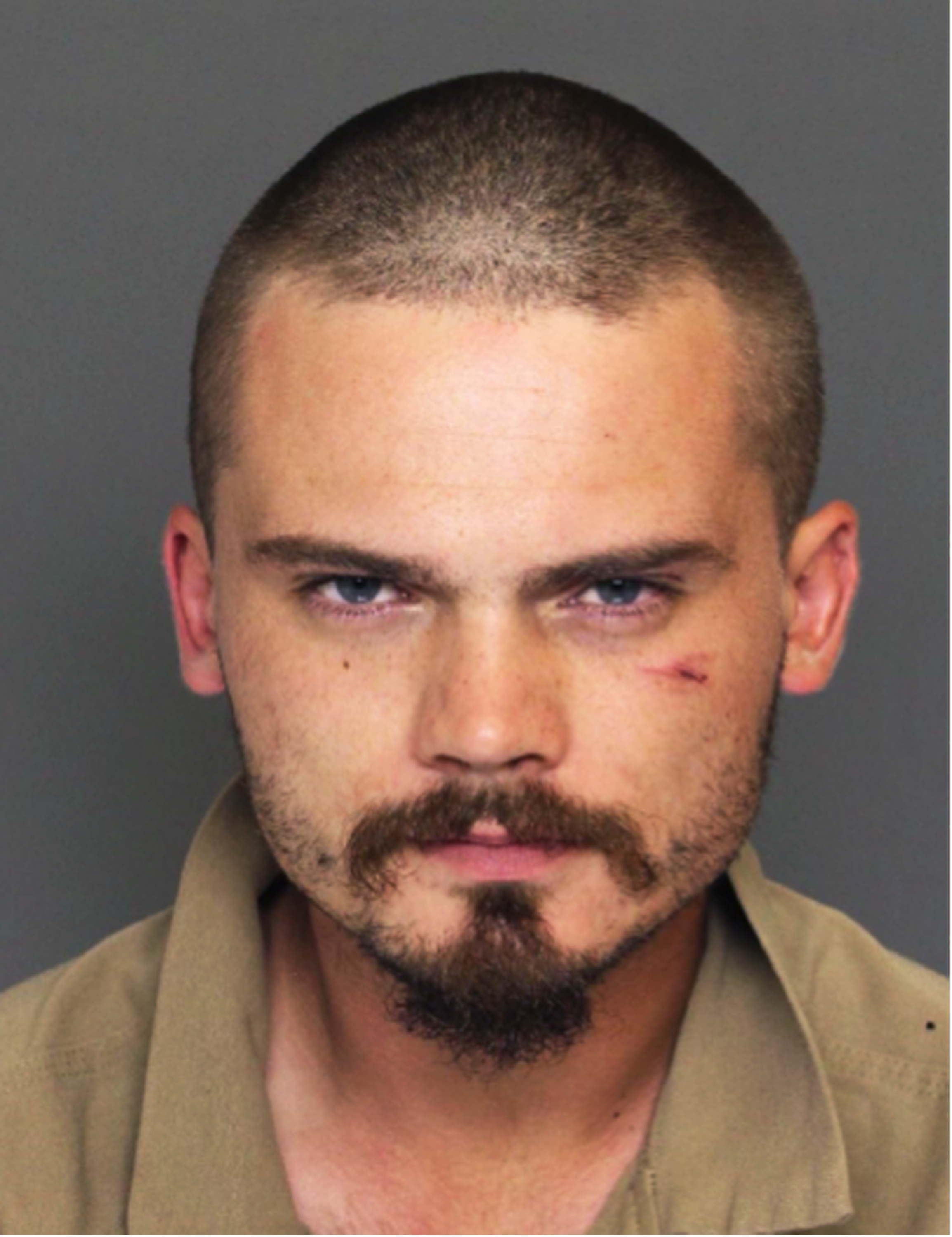 """This Wednesday, June 17, 2015 law enforcement booking photo provided by the Colleton County, S.C., Sheriff's Office shows former """"Star Wars"""" actor Jake Lloyd, who was booked as Jake Broadbent, after he allegedly lead deputies on a chase hitting speeds over 100 mph Wednesday at the Colleton County Detention Center, in Walterboro, S.C. Colleton County, South Carolina, Sheriff's Sgt. Kyle Strickland said Sunday  June 21, 2015, that deputies on Wednesday arrested a 26-year-old man they confirmed through a former talent agent was Jake Lloyd. Strickland said the man gave his name as Jake Broadbent. He played young Anakin Skywalker in the 1999 movie """"Star Wars: Episode I - The Phantom Menace."""" (Colleton County Sheriff's Office via AP)"""