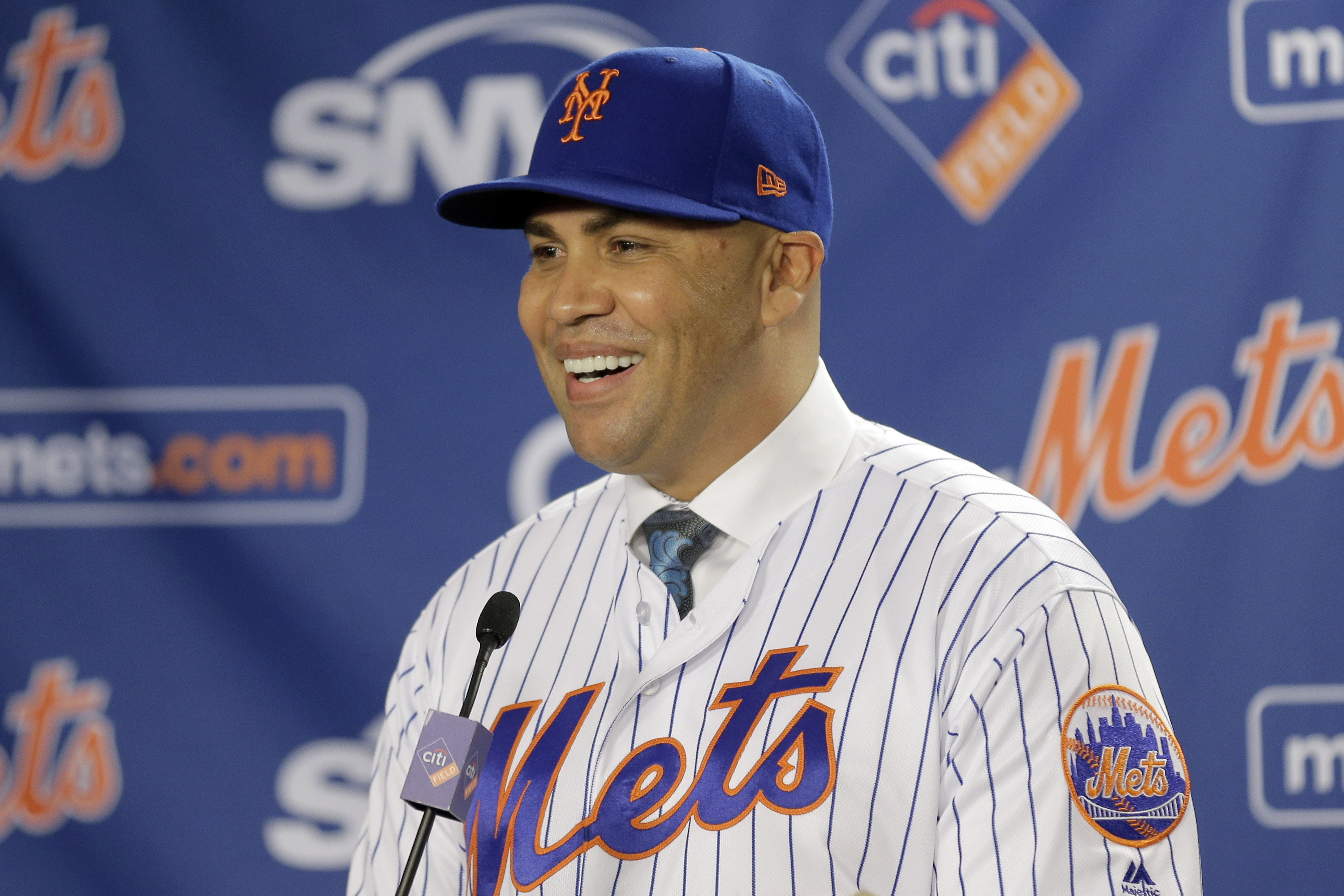 The Mets have fired manager Carlos Beltran after he was named as player in Astros' sign-stealing scheme. (AP Photo/Seth Wenig)