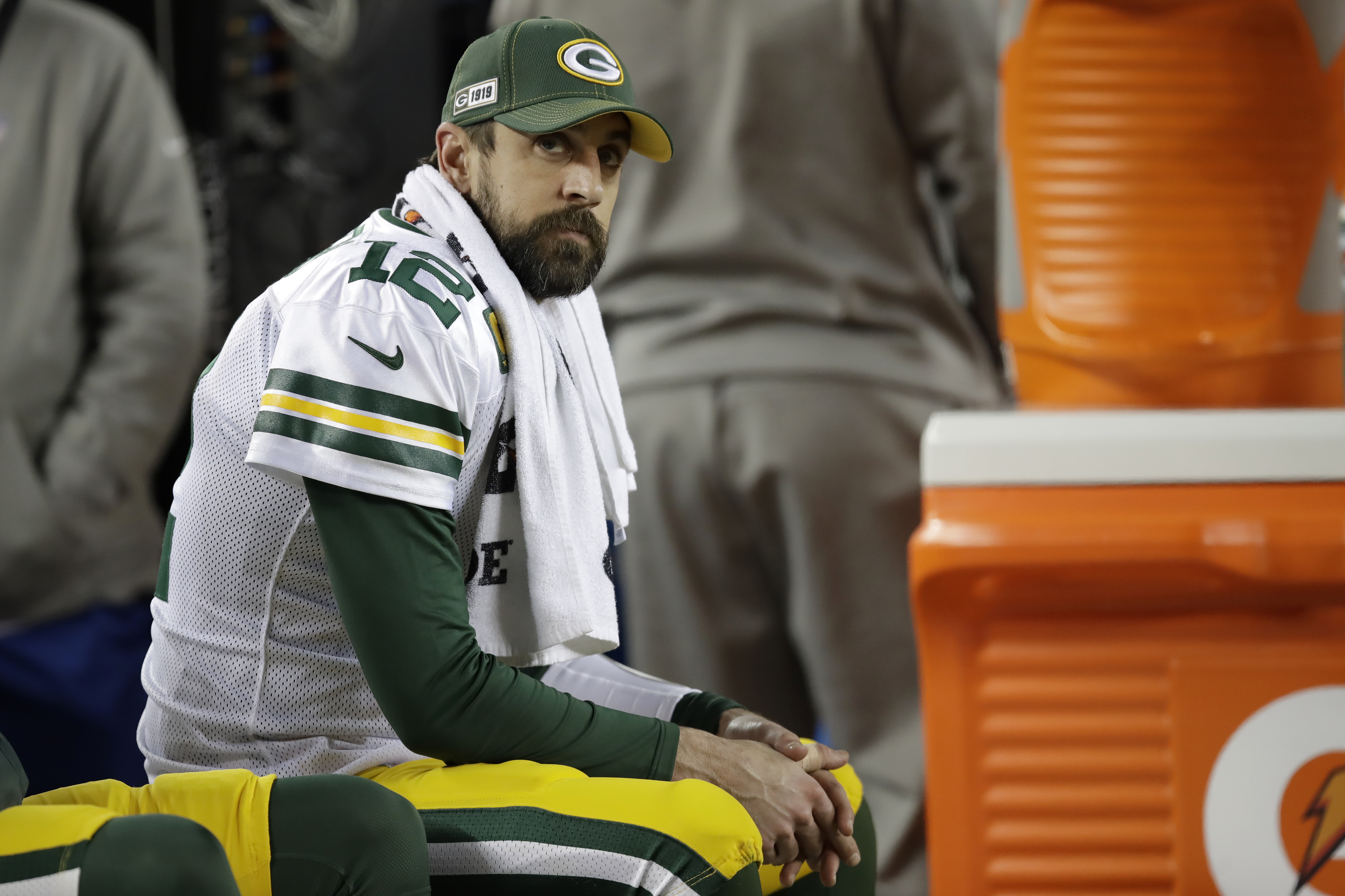 Aaron Rodgers hopes to make it back to the playoffs after losing in the NFC championship game last season. (AP Photo/Ben Margot)