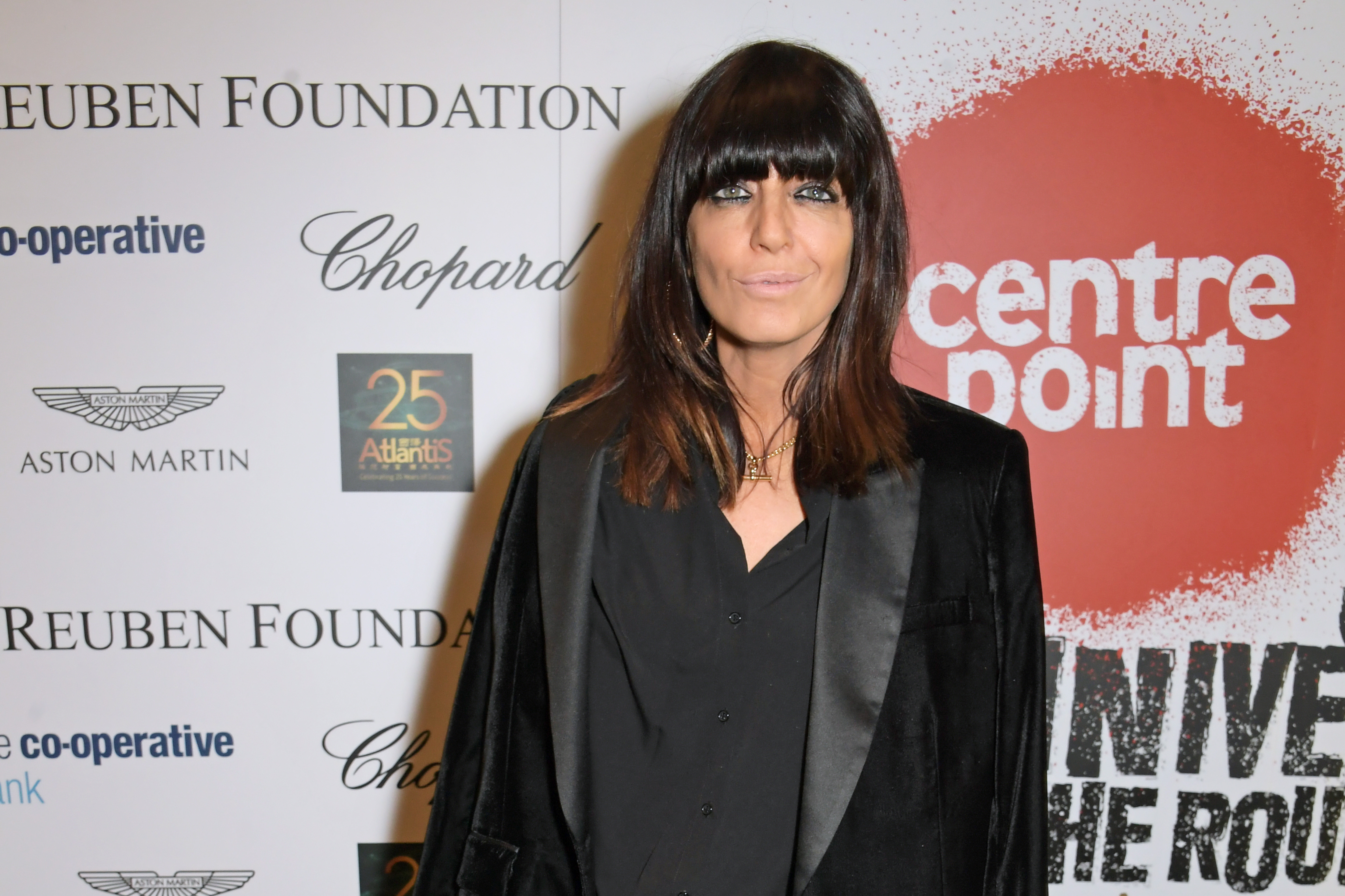 Claudia Winkleman joins Patron of Centrepoint, HRH The Duke of Cambridge, young people supported by Centrepoint, and the charity's staff, ambassadors and supporters to mark the charity's 50 years of tackling youth homelessness, at The Roundhouse on November 13, 2019 in London, England. Duran Duran, Rita Ora and Hussain Manawer all performed at the gala.  (Photo by David M. Benett/Dave Benett/Getty Images for Centrepoint)