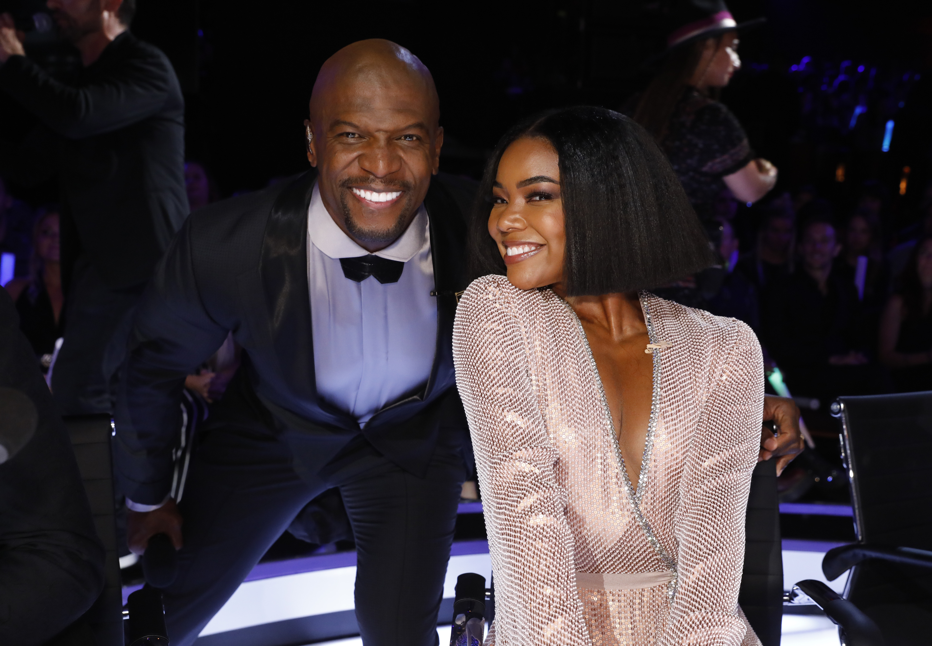 """AMERICA'S GOT TALENT -- """"Live Results Finale"""" Episode 1423 -- Pictured: (l-r) Terry Crews, Gabrielle Union -- (Photo by: Trae Patton/NBCU Photo Bank/NBCUniversal via Getty Images via Getty Images)"""