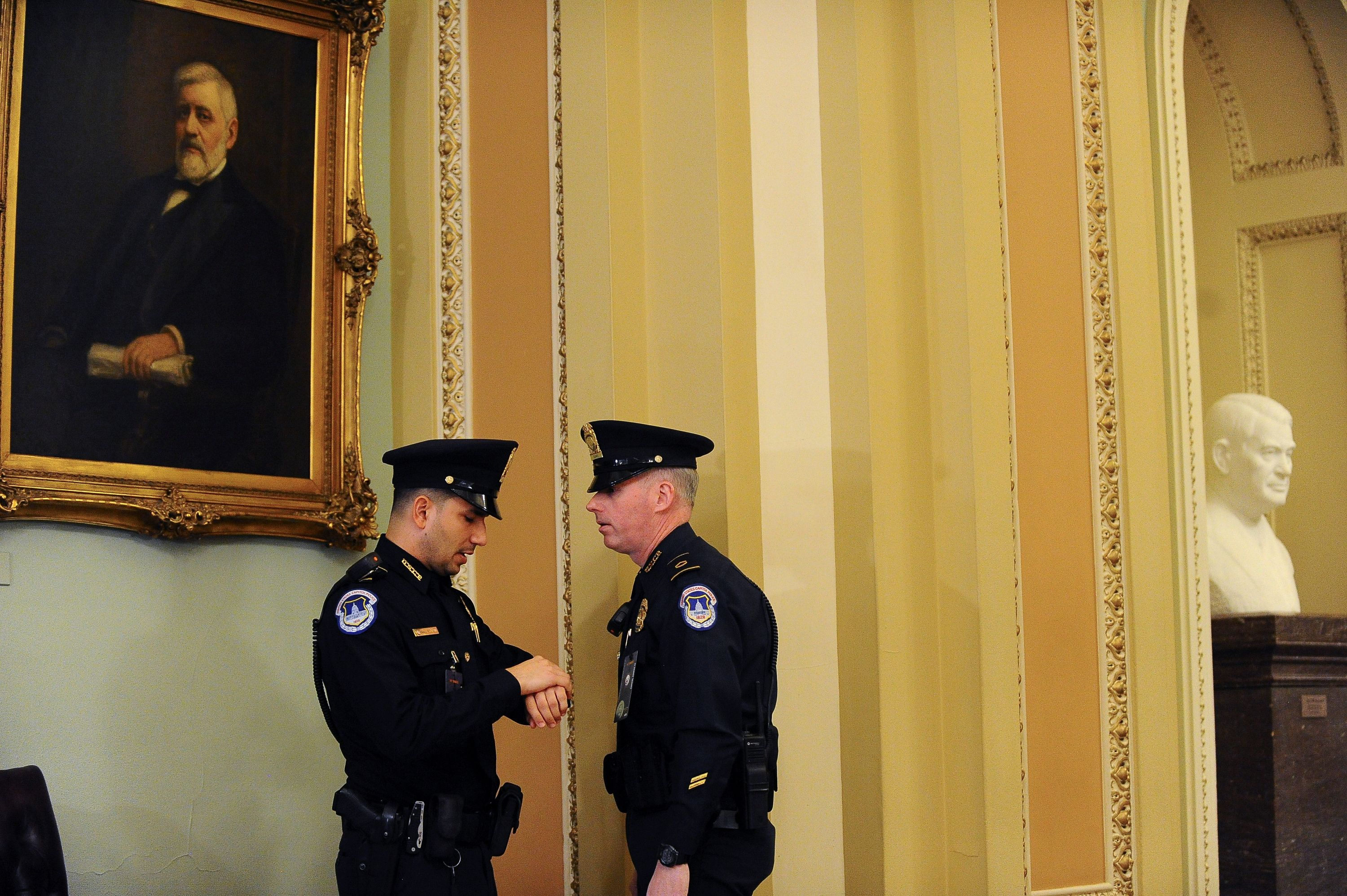 Please do not touch me: U.S. Senate on security alert for Trump impeachment trial