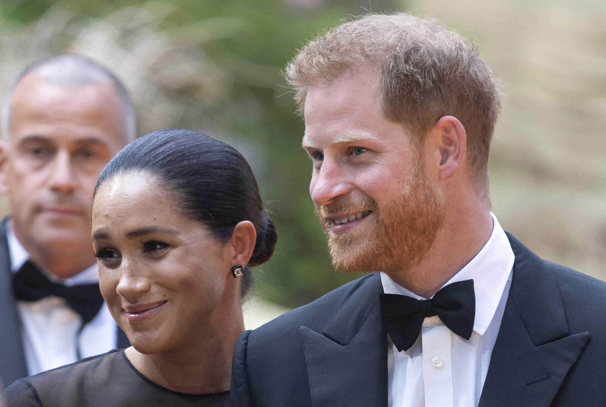"""January 20th 2020 - Buckingham Palace has announced that Prince Harry and Duchess Meghan will no longer use """"royal highness"""" titles and will not receive public money for their royal duties. Additionally, as part of the terms of surrendering their royal responsibilities, Harry and Meghan will repay the $3.1 million cost of taxpayers' money that was spent renovating Frogmore Cottage - their home near Windsor Castle. - January 9th 2020 - Prince Harry The Duke of Sussex and Duchess Meghan of Sussex intend to step back their duties and responsibilities as senior members of the British Royal Family. - File Photo by: zz/KGC-178/STAR MAX/IPx 2019 7/14/19 Prince Harry and Duchess Meghan at the premiere of """"The Lion King"""" in London, England, UK."""