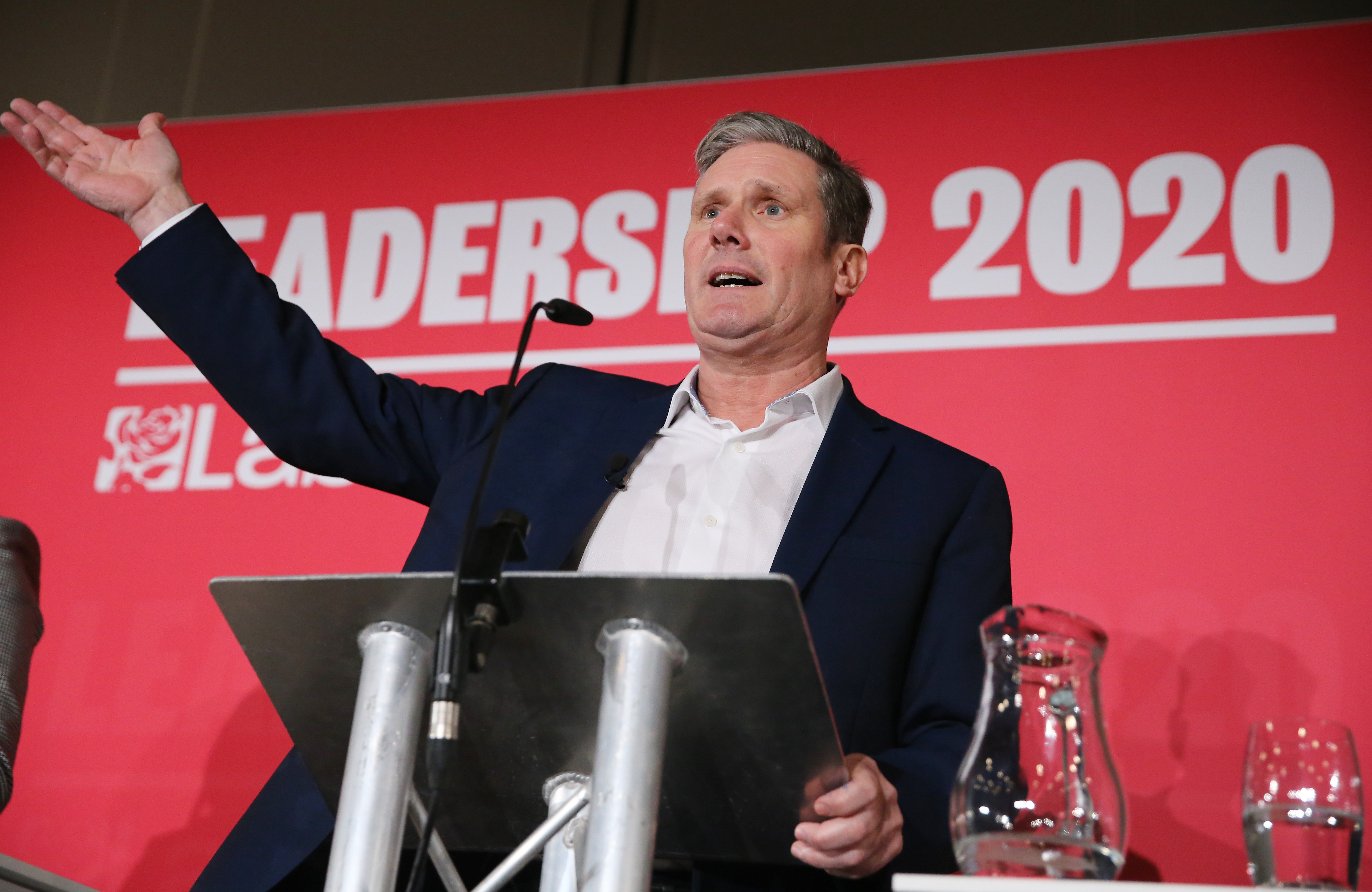 Keir Starmer during the Labour leadership hustings at the ACC Liverpool. Picture date: Saturday January 18, 2020. Photo credit should read: Isabel Infantes / EMPICS Entertainment.