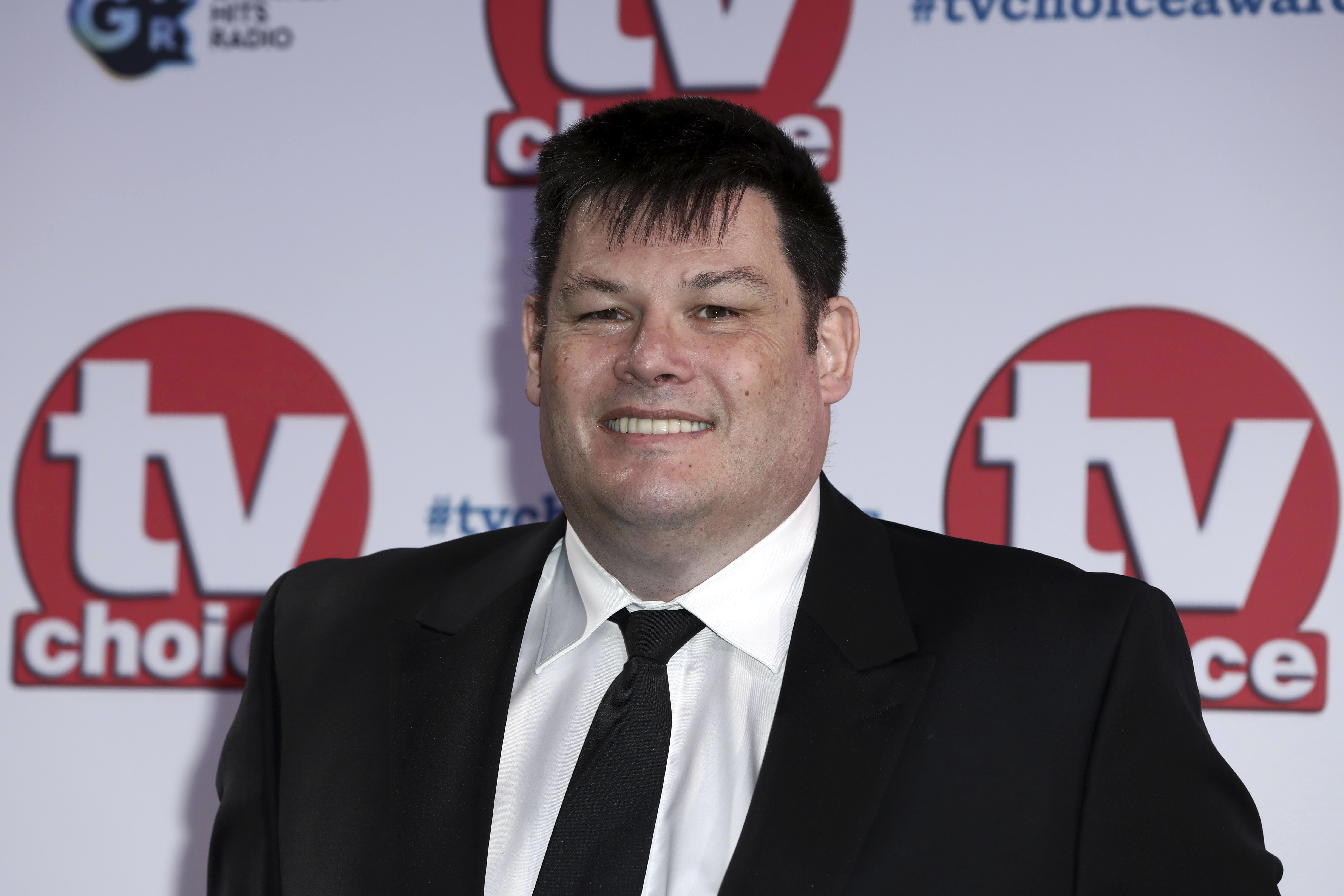 TV personality Mark Labbett poses for photographers on arrival at the TV Choice Awards in central London on Monday, Sept. 9, 2019. (Photo by Grant Pollard/Invision/AP)