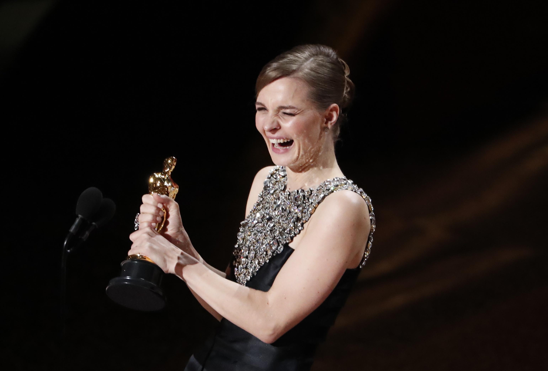 "Hildur Gudnadottir wins the Oscar for Best Original Score for ""Joker"" at the 92nd Academy Awards in Hollywood, Los Angeles, California, U.S., February 9, 2020. REUTERS/Mario Anzuoni"