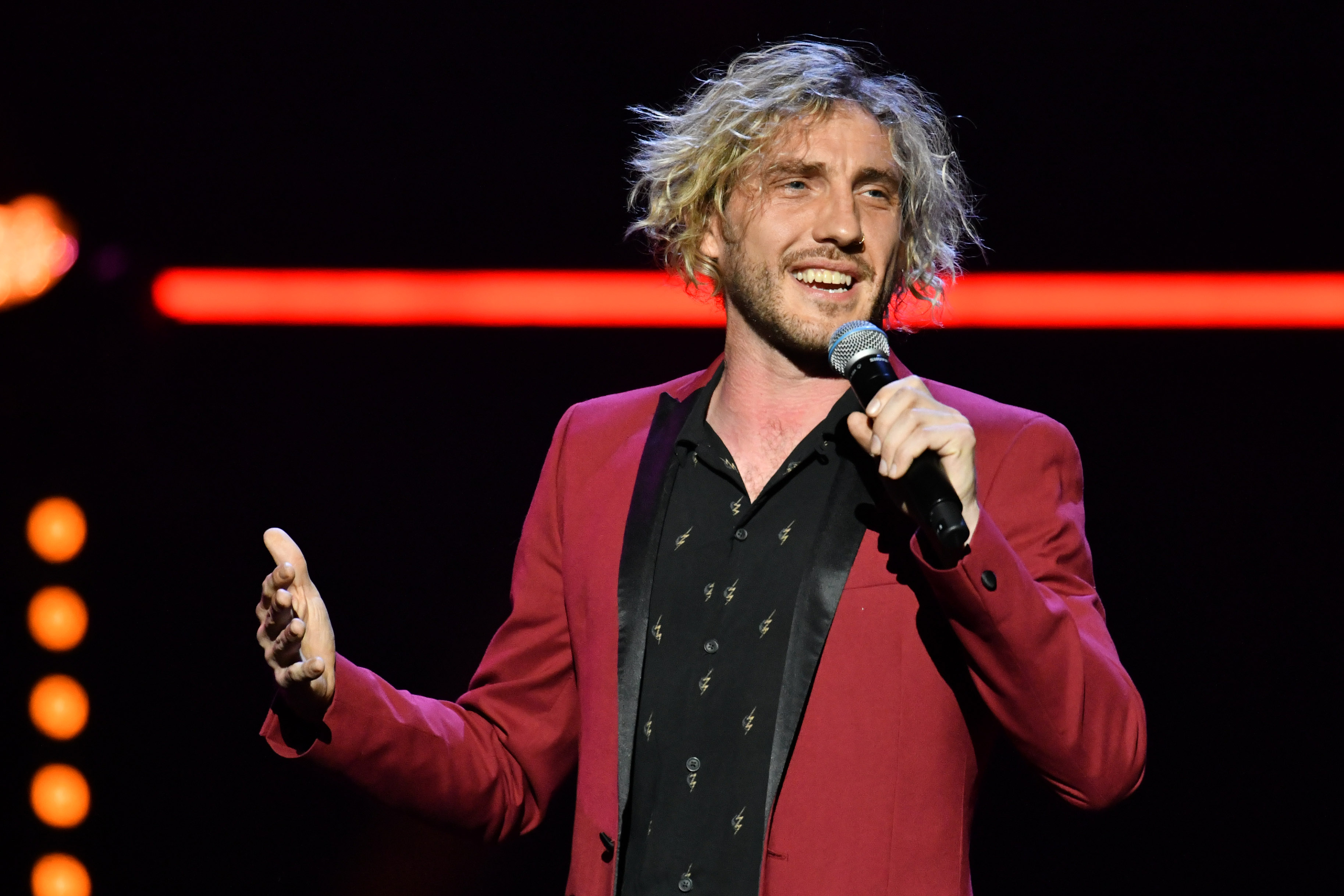 Seann Walsh performs during the Teenage Cancer Trust comedy night, at the Royal Albert Hall, London. (Photo by Matt Crossick/PA Images via Getty Images)