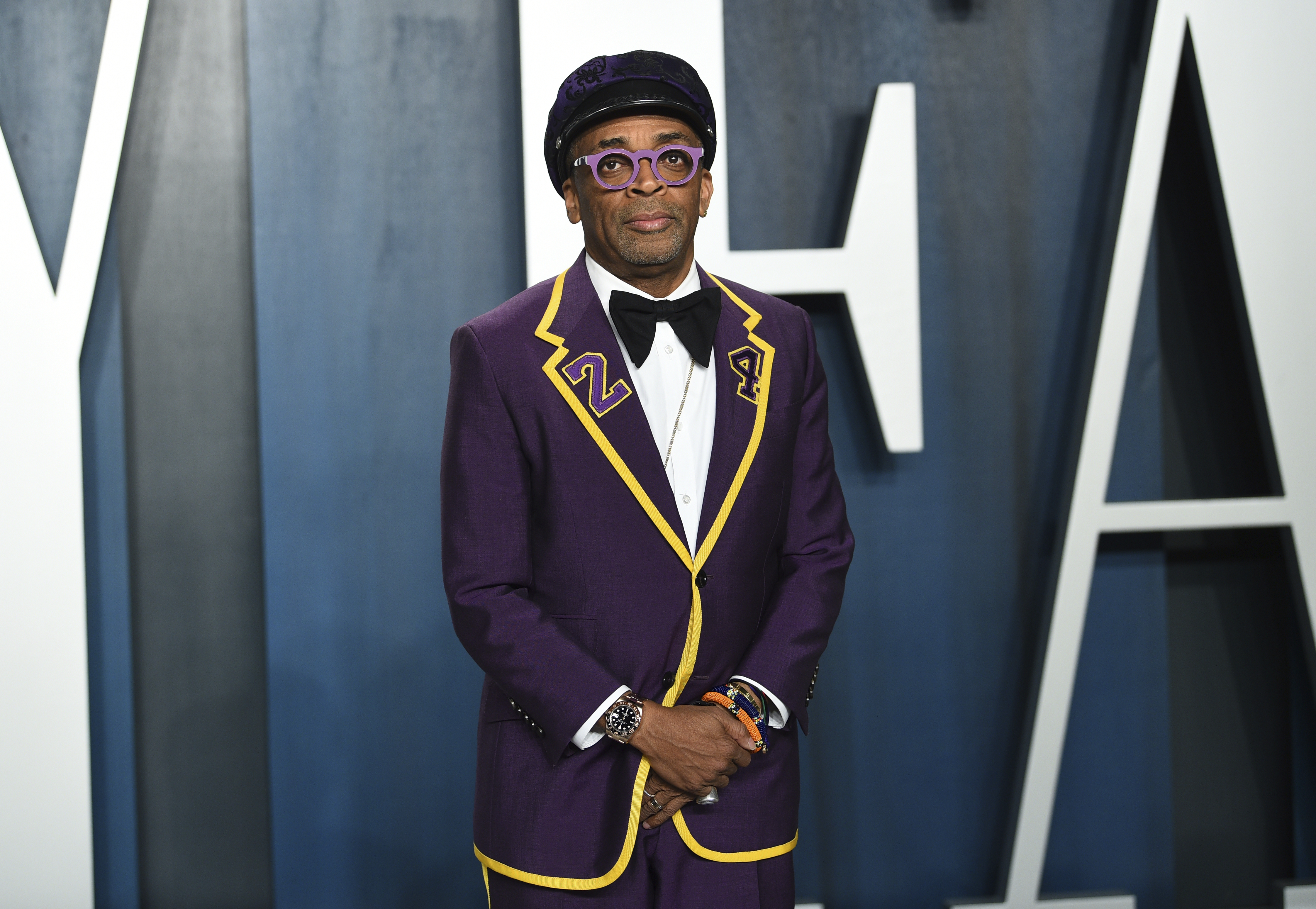Spike Lee arrives at the Vanity Fair Oscar Party on Sunday, Feb. 9, 2020, in Beverly Hills, Calif. (Photo by Evan Agostini/Invision/AP)