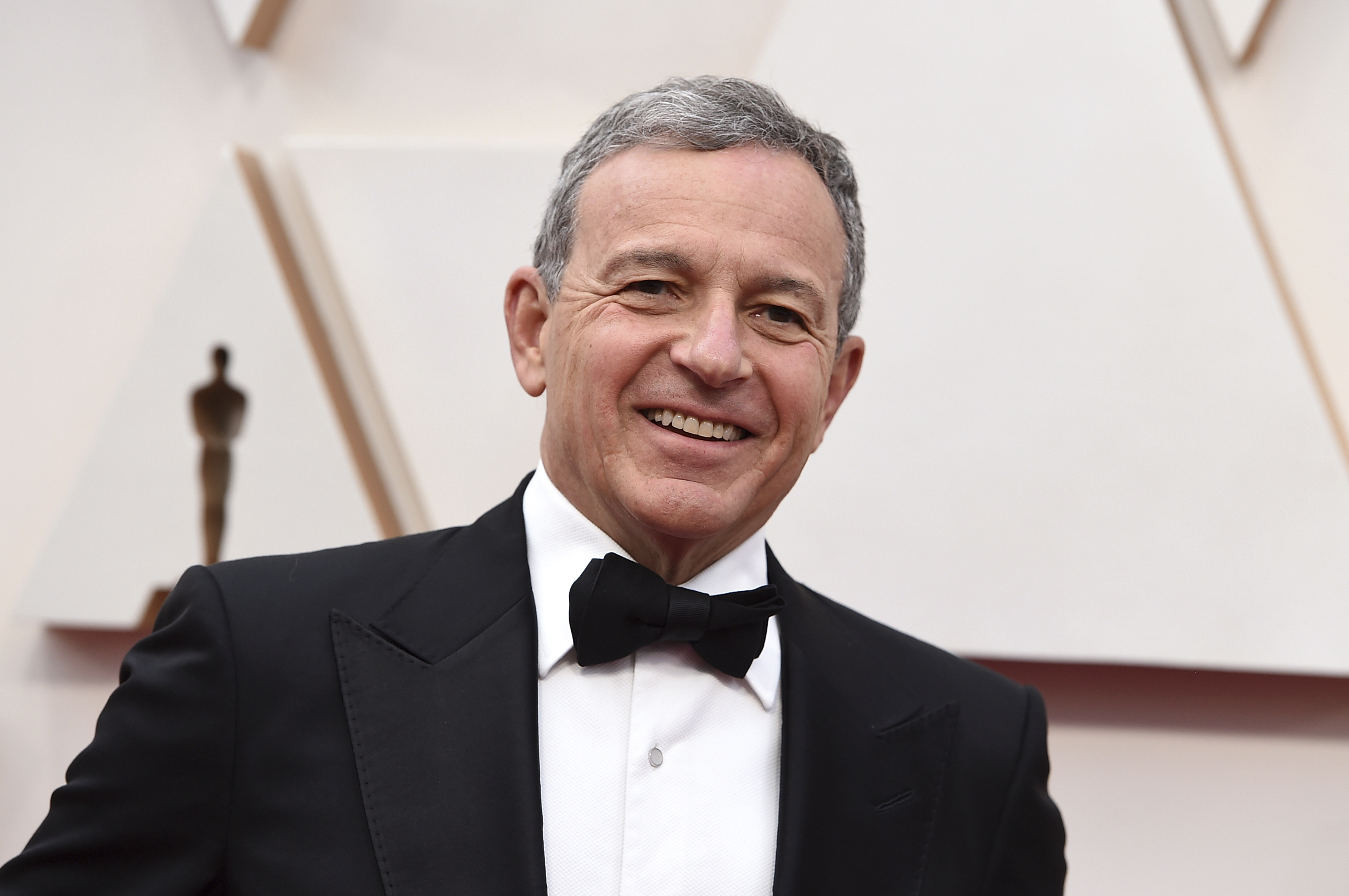 Bob Iger arrives at the Oscars on Sunday, Feb. 9, 2020, at the Dolby Theatre in Los Angeles. (Photo by Jordan Strauss/Invision/AP)