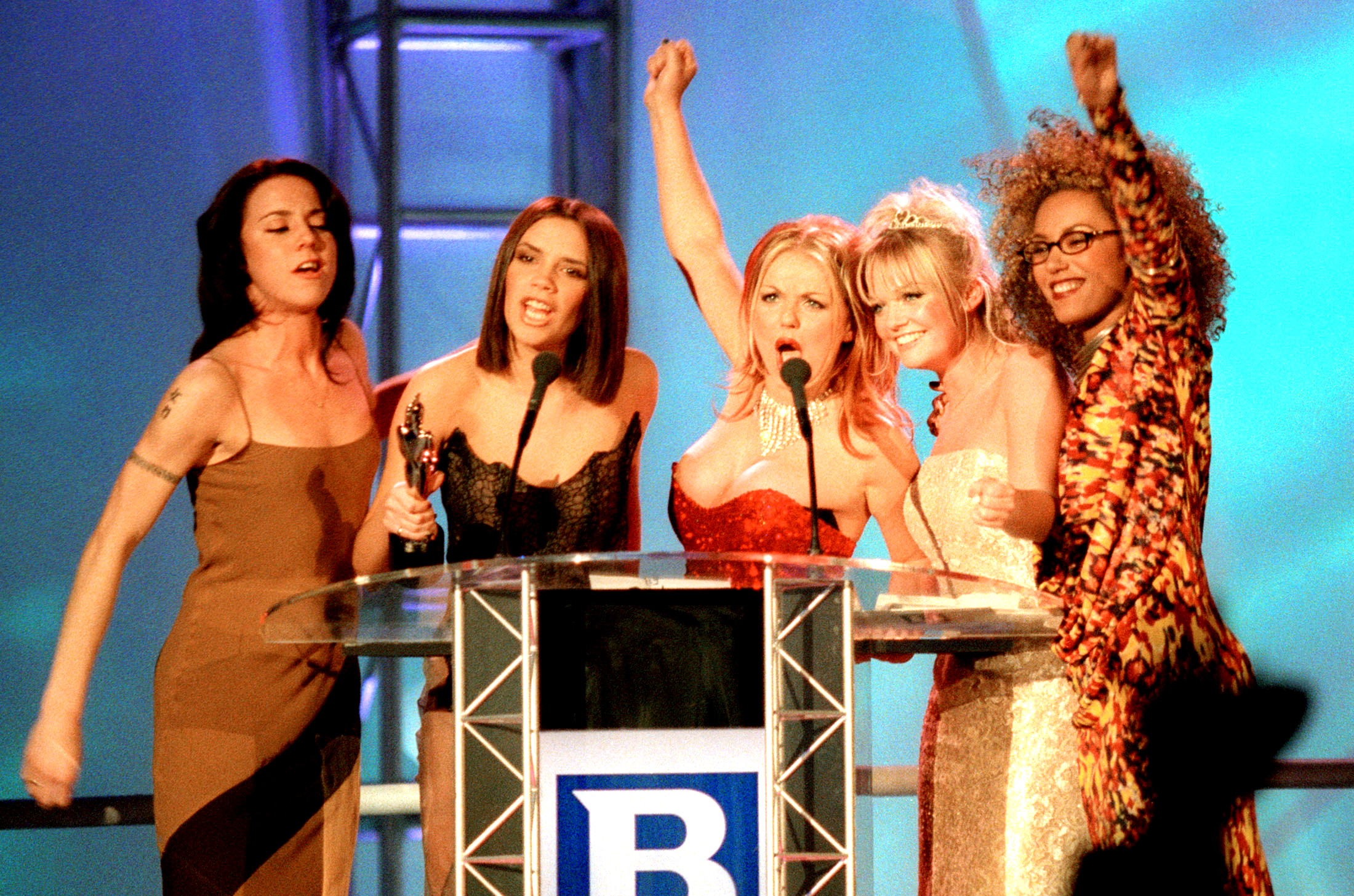 Mel C (pictured with her fellow Spice Girls in 1997) says she was bullied while in the group. (Photo: REUTERS/Kieran Doherty)