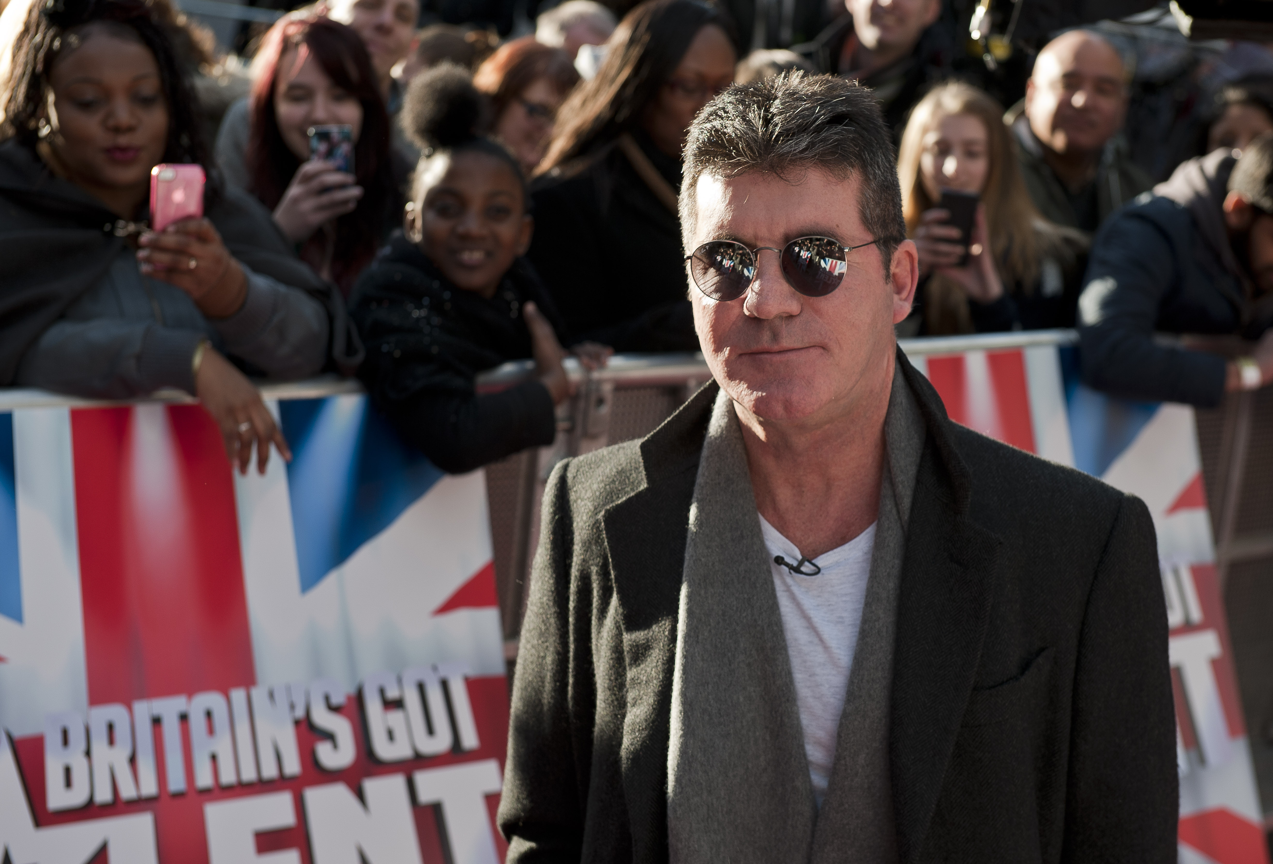 Britain's Got Talent judge Simon Cowell arrives for auditions at the Hammersmith Apollo in west London.   (Photo by Will Oliver/PA Images via Getty Images)