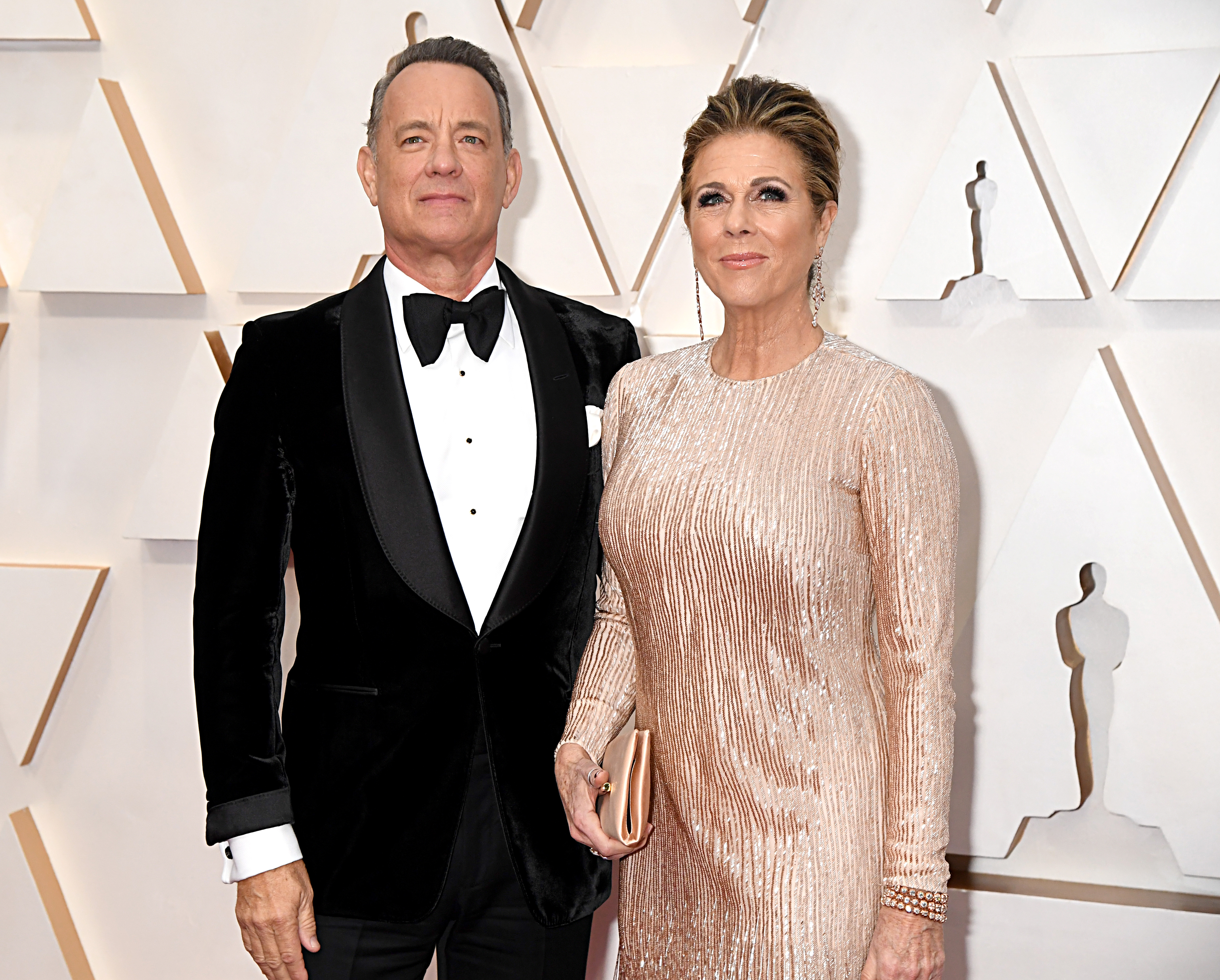 Tom Hanks and Rita Wilson attend the 92nd Annual Academy Awards at Hollywood and Highland on February 09, 2020 in Hollywood, California. (Photo by Jeff Kravitz/FilmMagic)