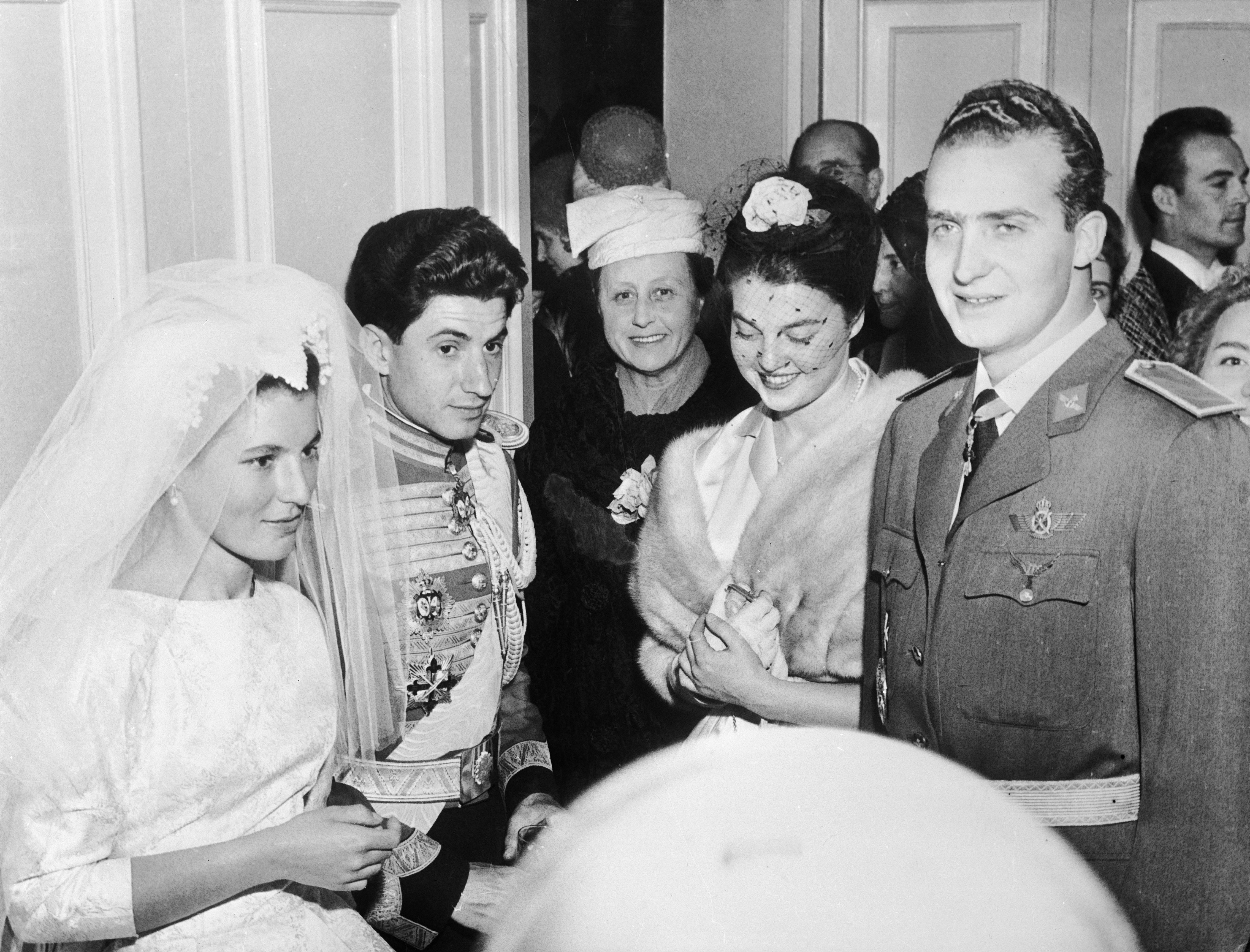 SPAIN - MARCH 19:  19Th Of March. 1961. Madrid. Basilica Atocha. Wedding Of Princess Maria Teresa Of Bourbon Parma To The Marquis Of Laula  (Photo by Keystone-France/Gamma-Keystone via Getty Images)