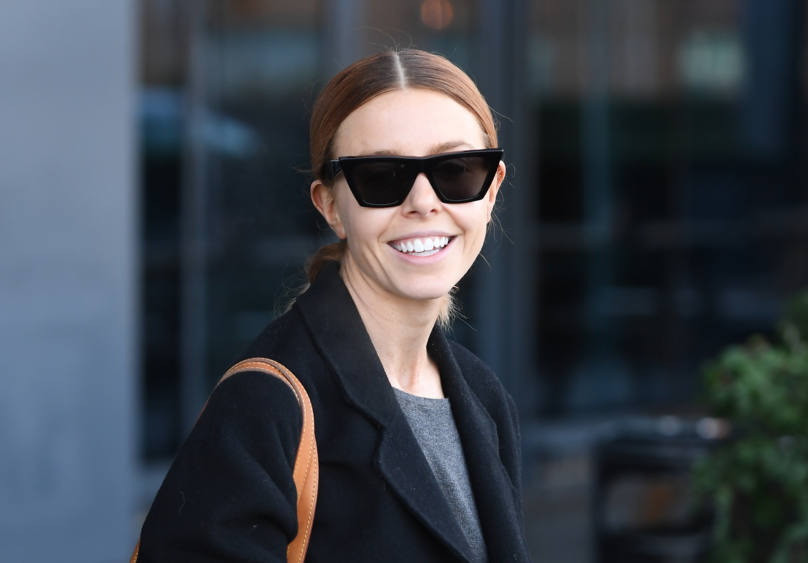 Stacey Dooley leaves the Village Hotel Club Watford the morning after winning the Strictly Come Dancing 2018 final. (Photo by Joe Giddens/PA Images via Getty Images)