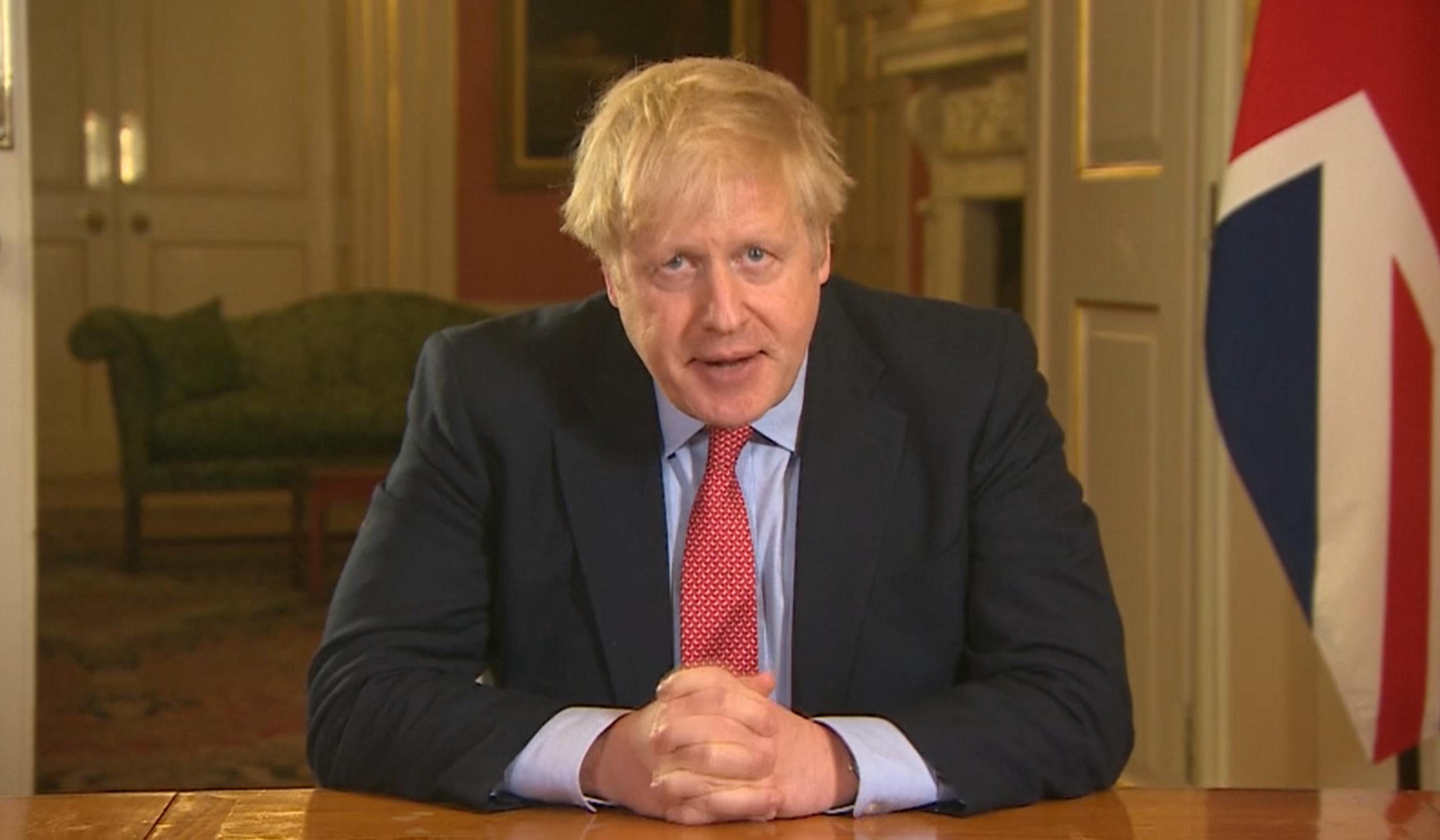 File photo dated 23/03/2020 of a screen grab of Prime Minister Boris Johnson addressing the nation from 10 Downing Street, London. The Prime Minister has said he has tested positive for coronavirus.