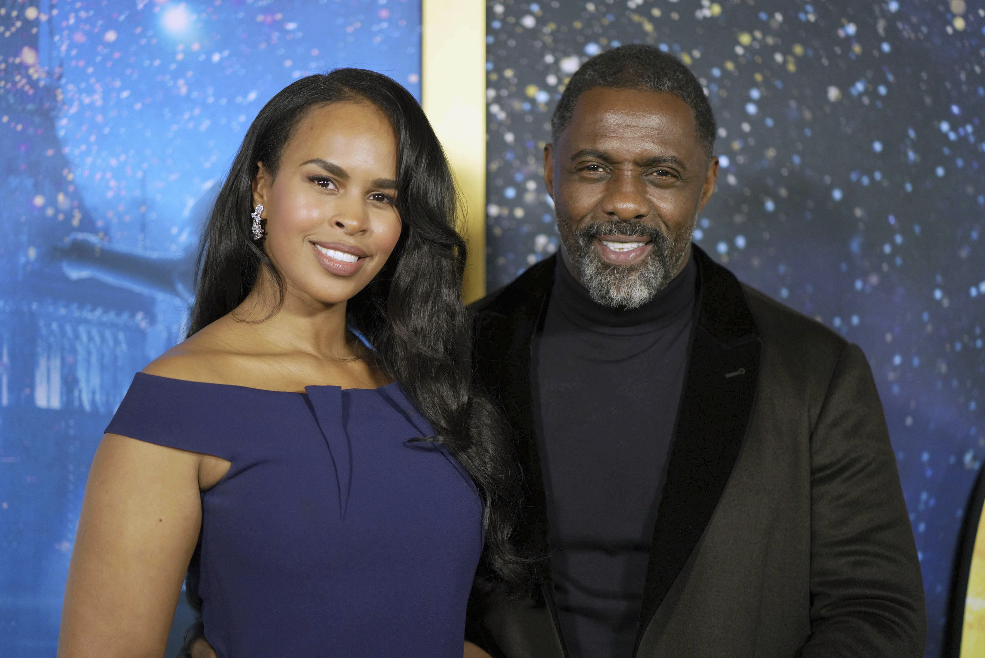 """Photo by: zz/John Nacion/STAR MAX/IPx 2019 12/16/19 Sabrina Dhowre Elba and Idris Elba at the world premiere of """"Cats"""" held at Alice Tully Hall, Lincoln Center on December 16, 2019 in New York City. (NYC)"""