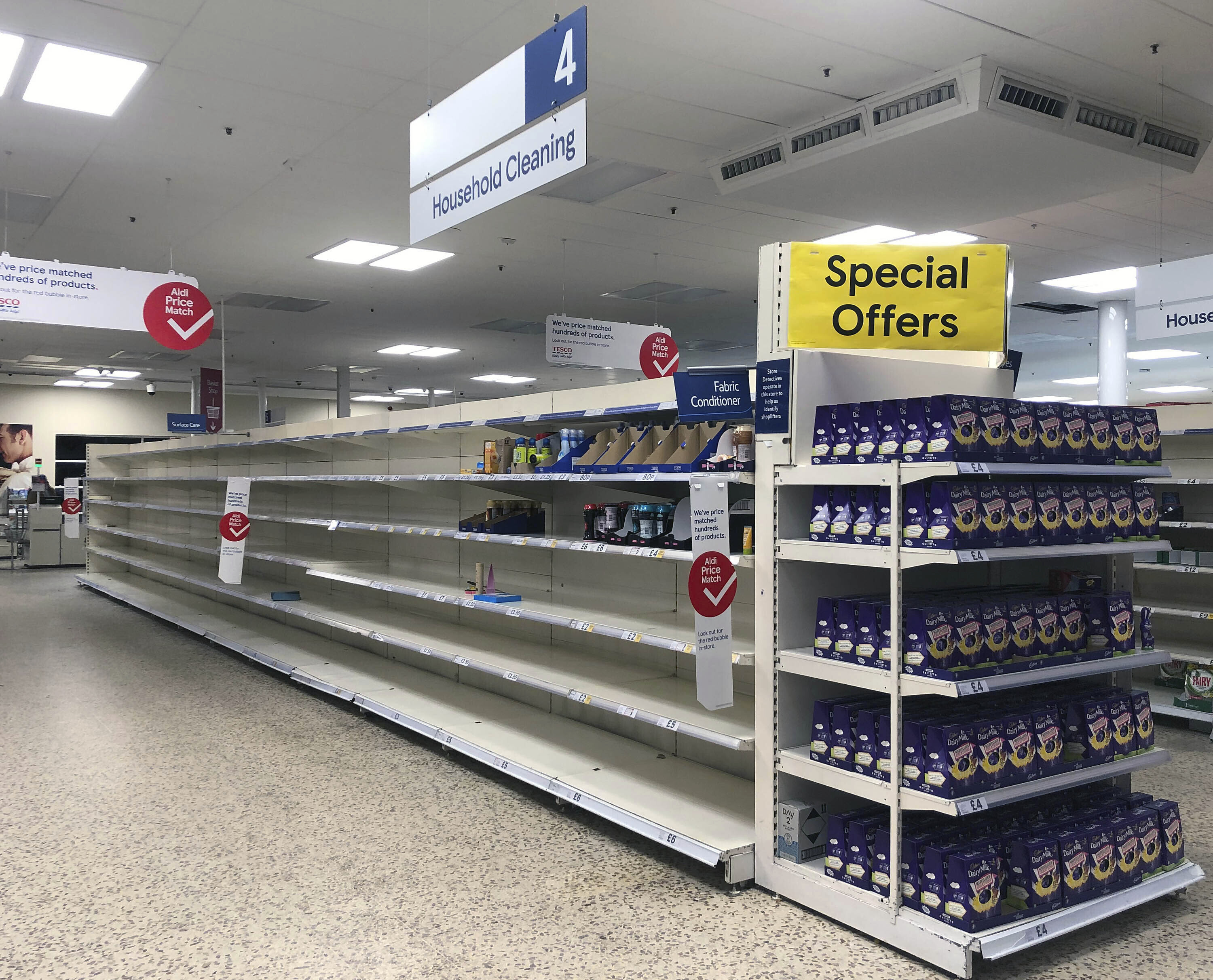 Coronavirus: Tesco limits essential items to one each to stop customers stockpiling