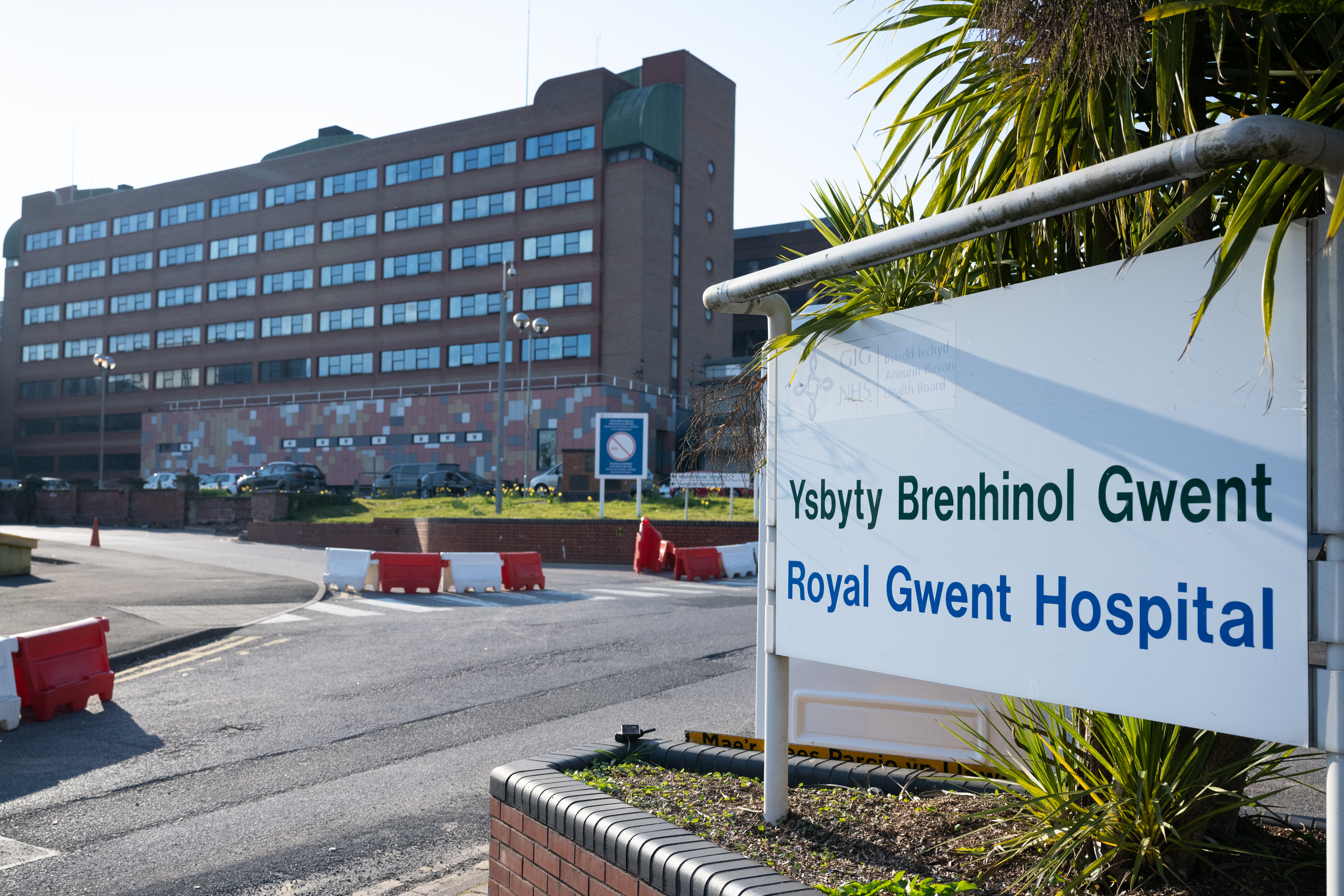 NEWPORT, UNITED KINGDOM - MARCH 26: A general view of the Royal Gwent Hospital on March 26, 2020 in Newport, United Kingdom. The Coronavirus (COVID-19) pandemic has spread to many countries across the world, claiming over 25,000 lives and infecting hundreds of thousands more. (Photo by Matthew Horwood/Getty Images)