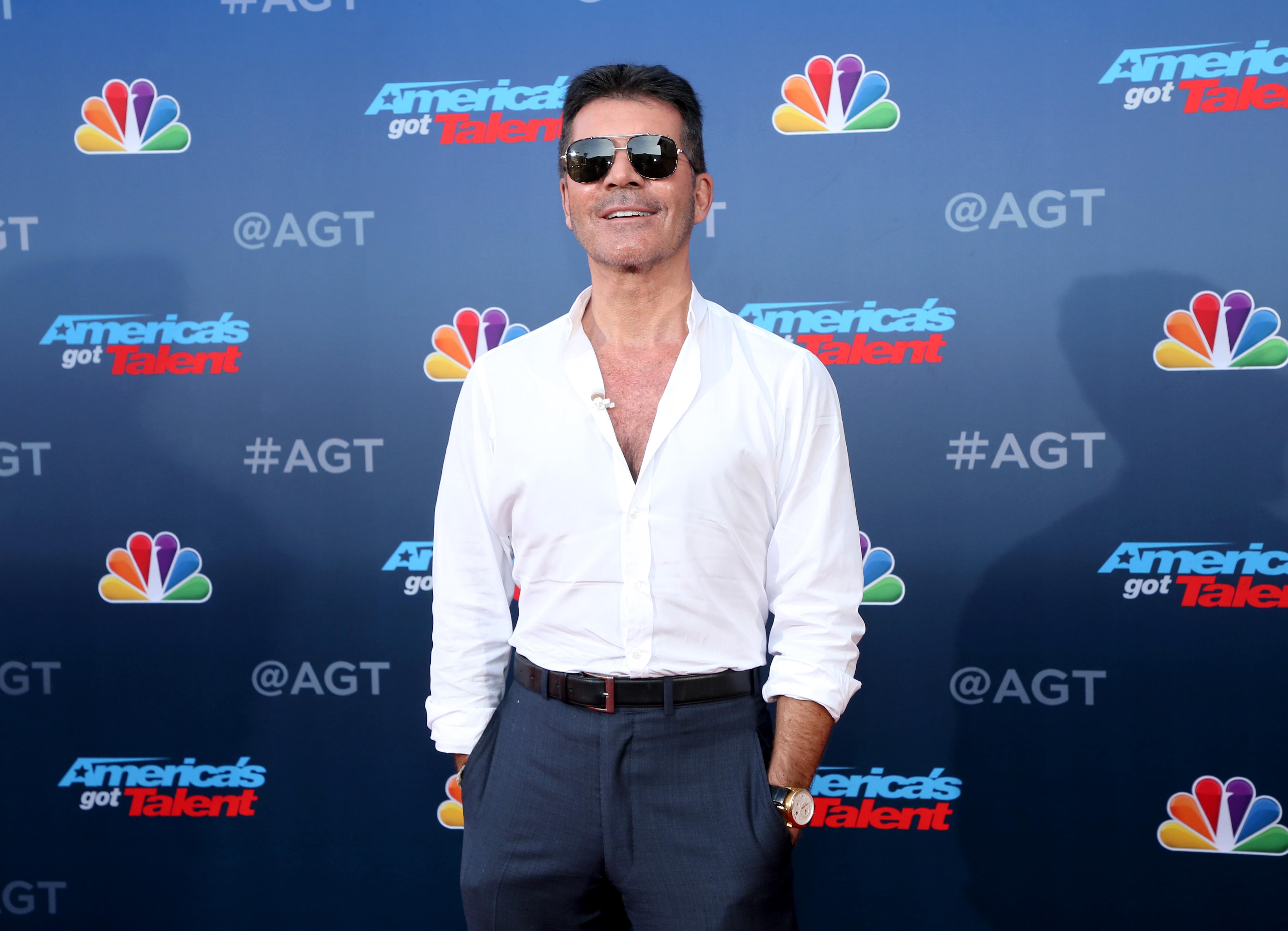 """PASADENA, CALIFORNIA - MARCH 04: Simon Cowell attends the """"America's Got Talent"""" Season 15 Kickoff at Pasadena Civic Auditorium on March 04, 2020 in Pasadena, California. (Photo by Phillip Faraone/FilmMagic)"""
