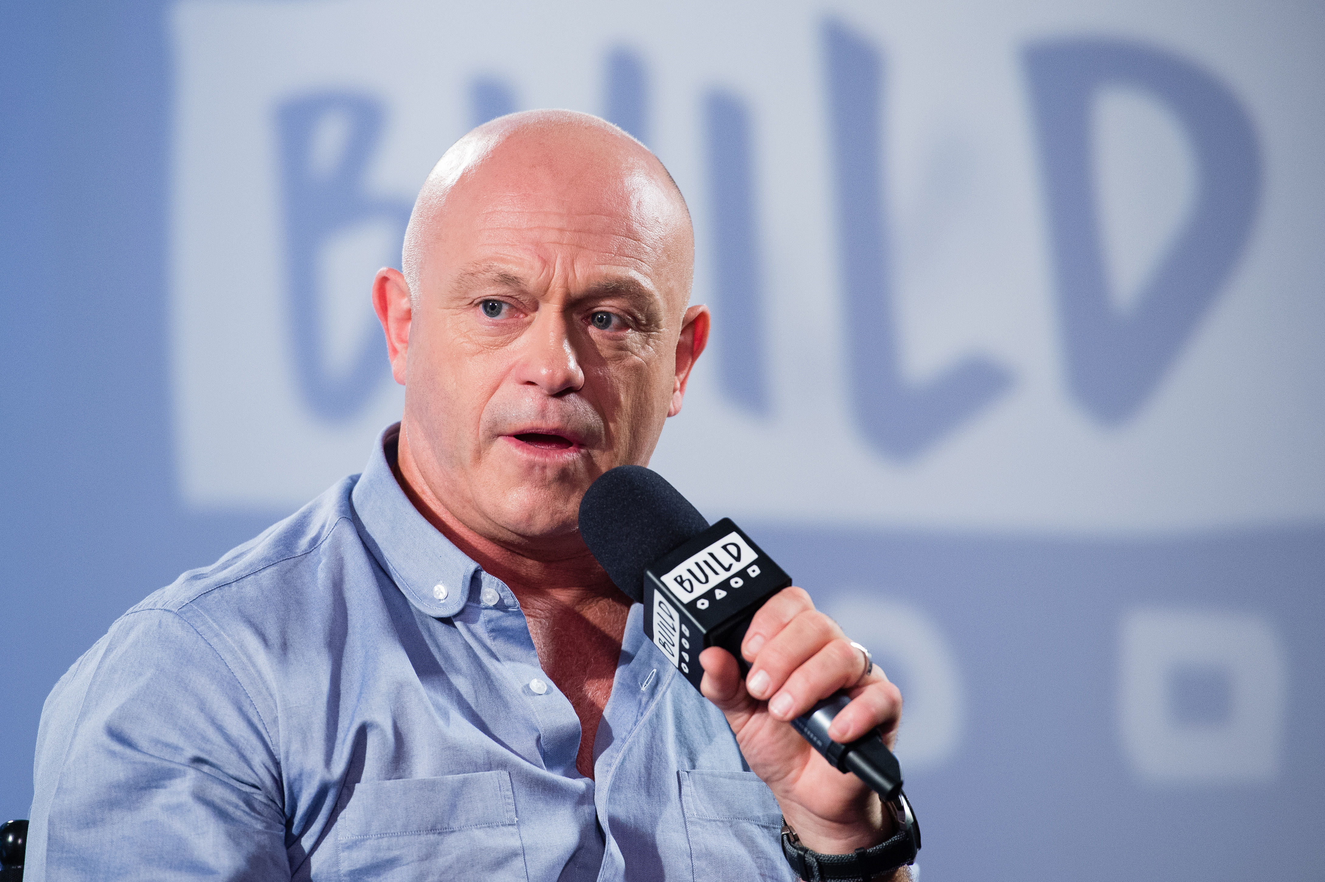 LONDON, ENGLAND - JULY 13:  Ross Kemp speaks during a BUILD event at AOL London on July 13, 2017 in London, England.  (Photo by Jeff Spicer/Getty Images)